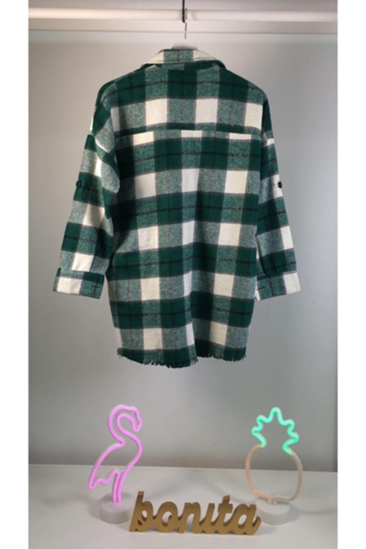 Yeşil oduncu gömlek YEŞİL