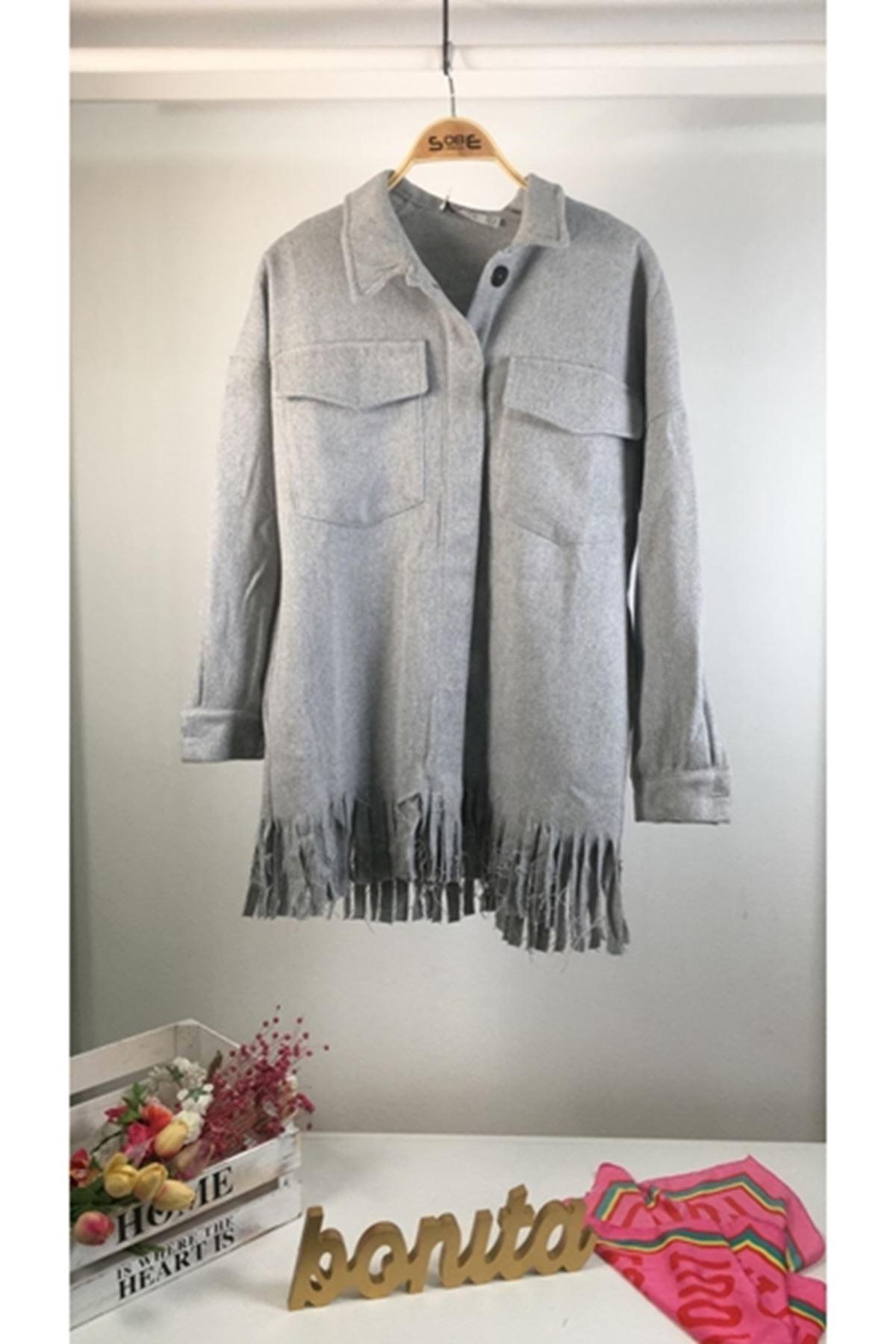 Yeni sezon ceket gömlek GRİ