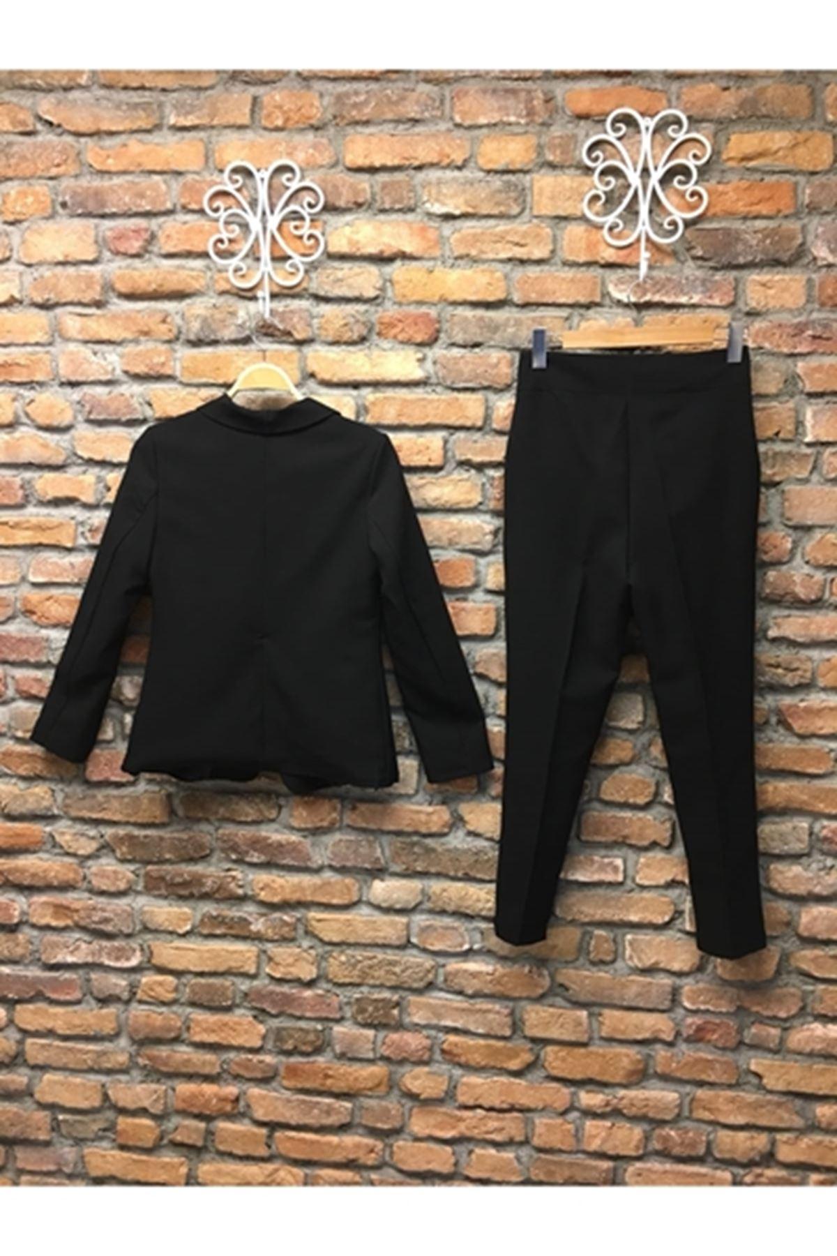 Bilek Pantolon İkili Takım  SİYAH