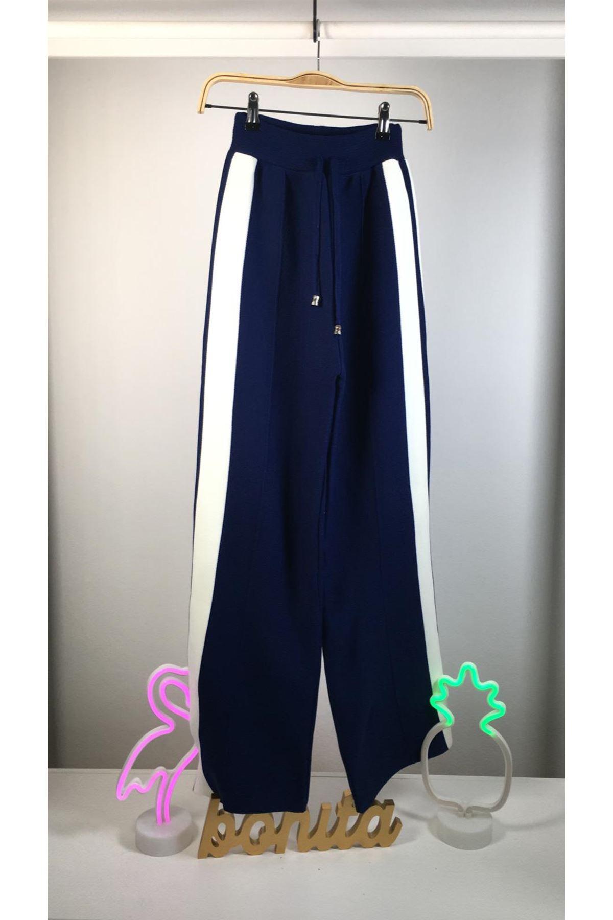 Yanı şeritli trıko pantolon K49 SAKS