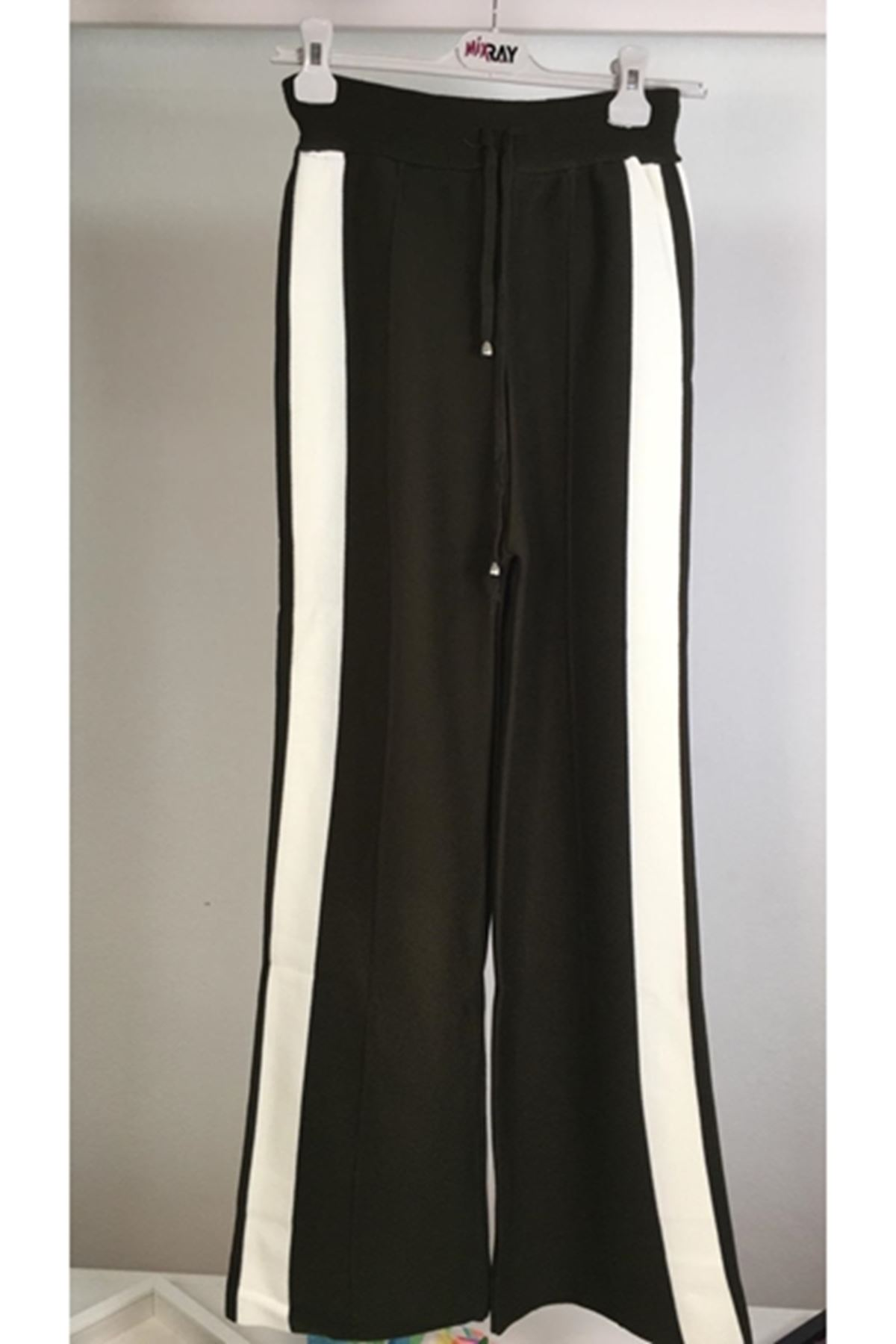 Yanı şeritli trıko pantolon K49 HAKİ