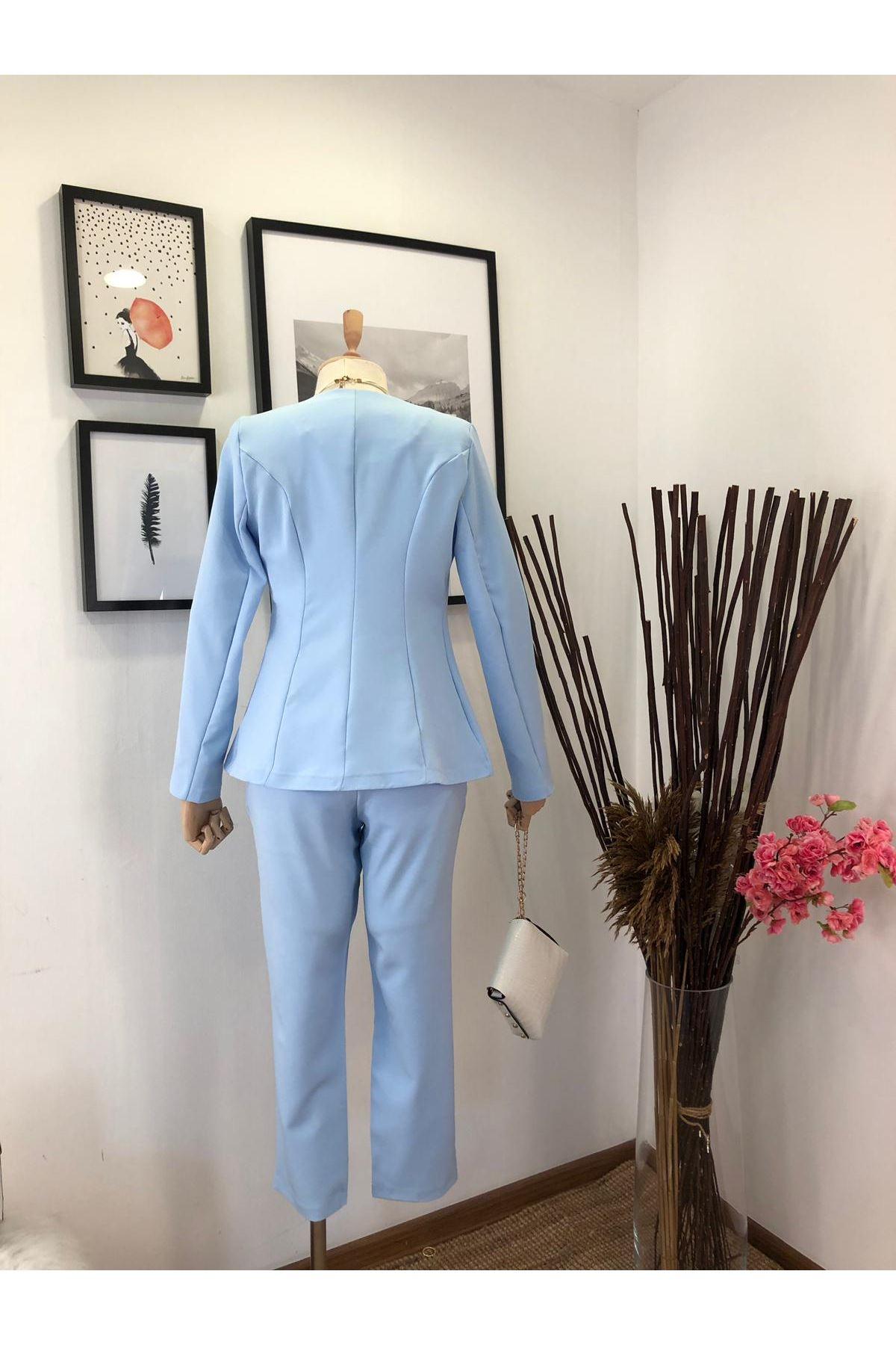 Bilek Pantolon İkili Klasik Takım - Mavi