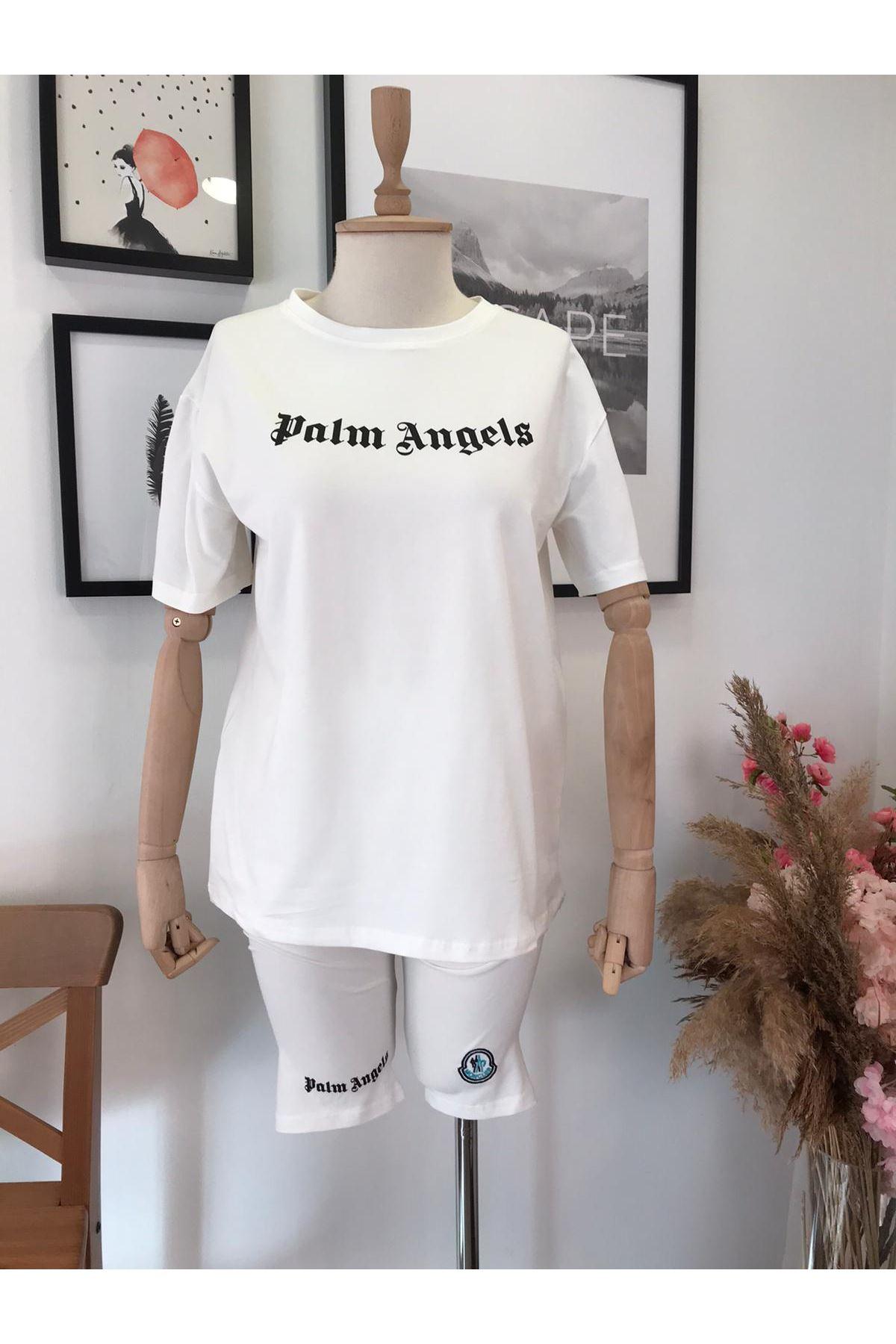 Angels Şortlu İkili Takım BEYAZ