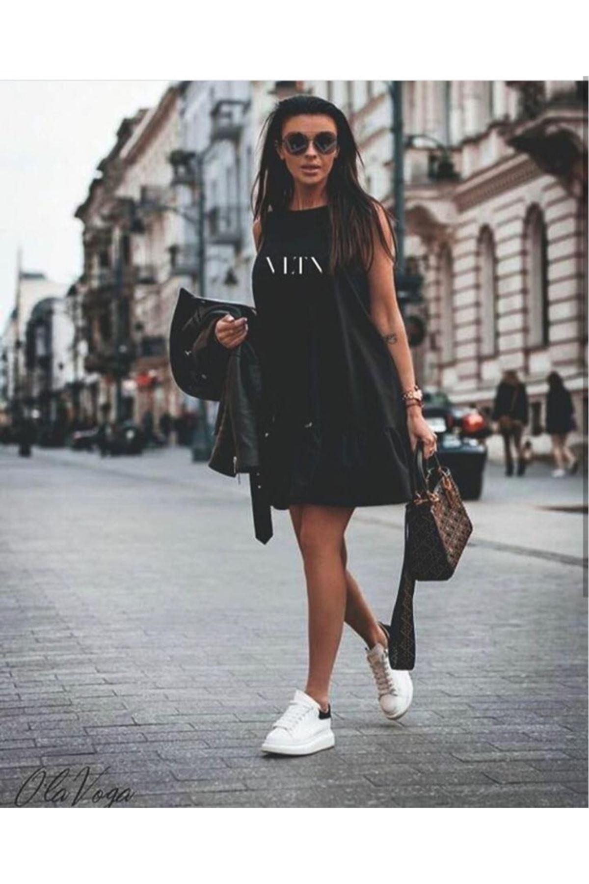 Vltn Spor Elbise - Siyah