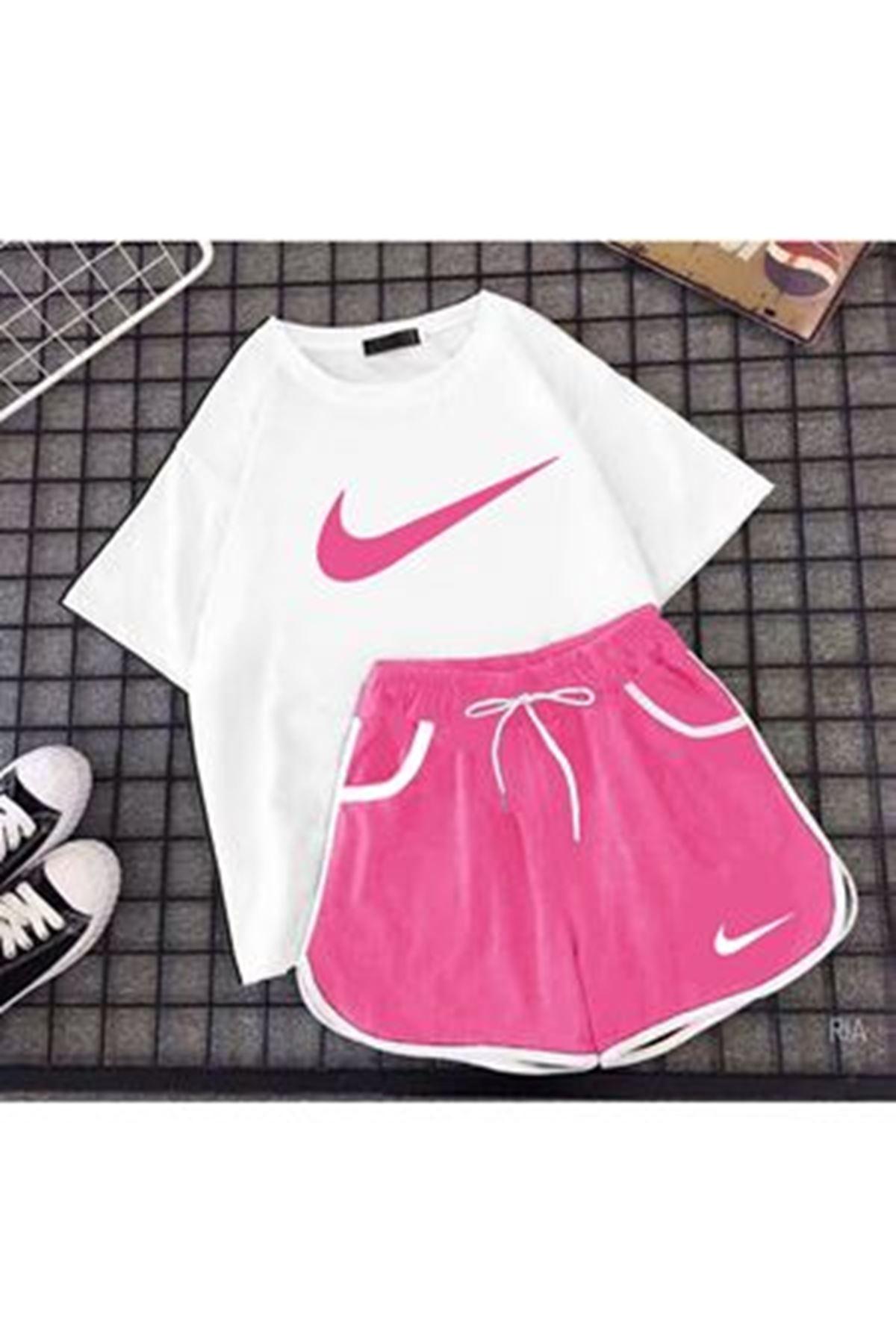 Nike Şort İkili Takım - Pembe