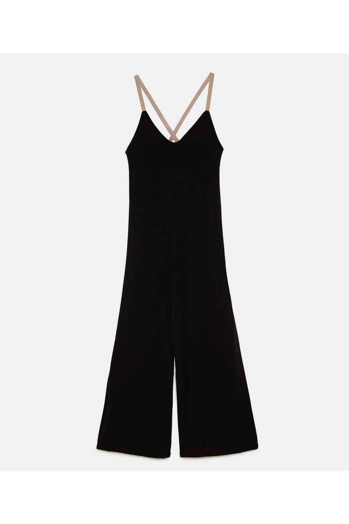 Zara Model Salaş Tulum - Siyah