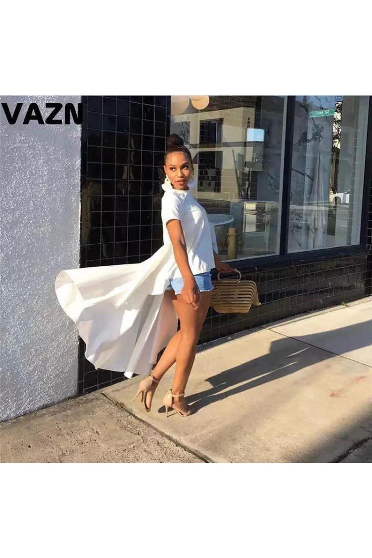 New Sezon Cotton Bluz - BEYAZ