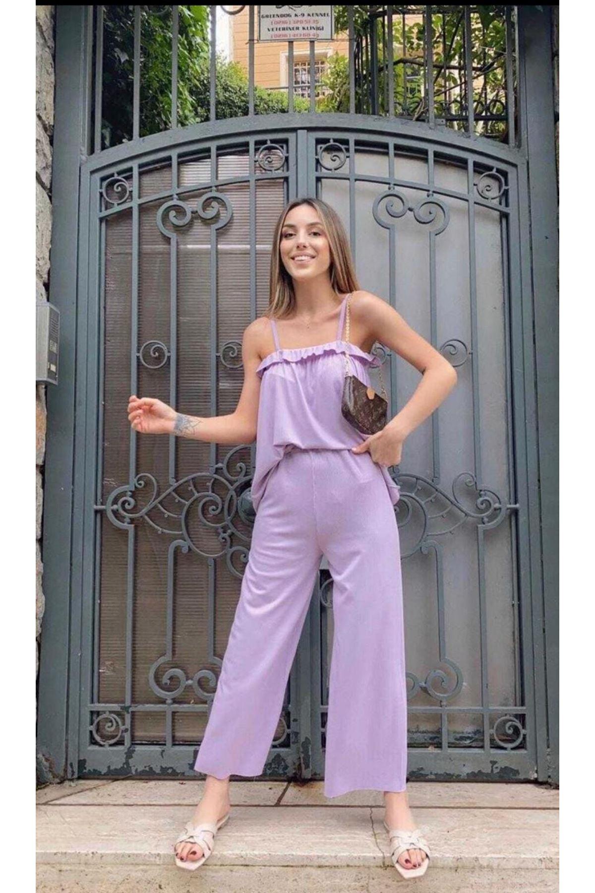 Zara Model Rahat İkili Takım - LİLA