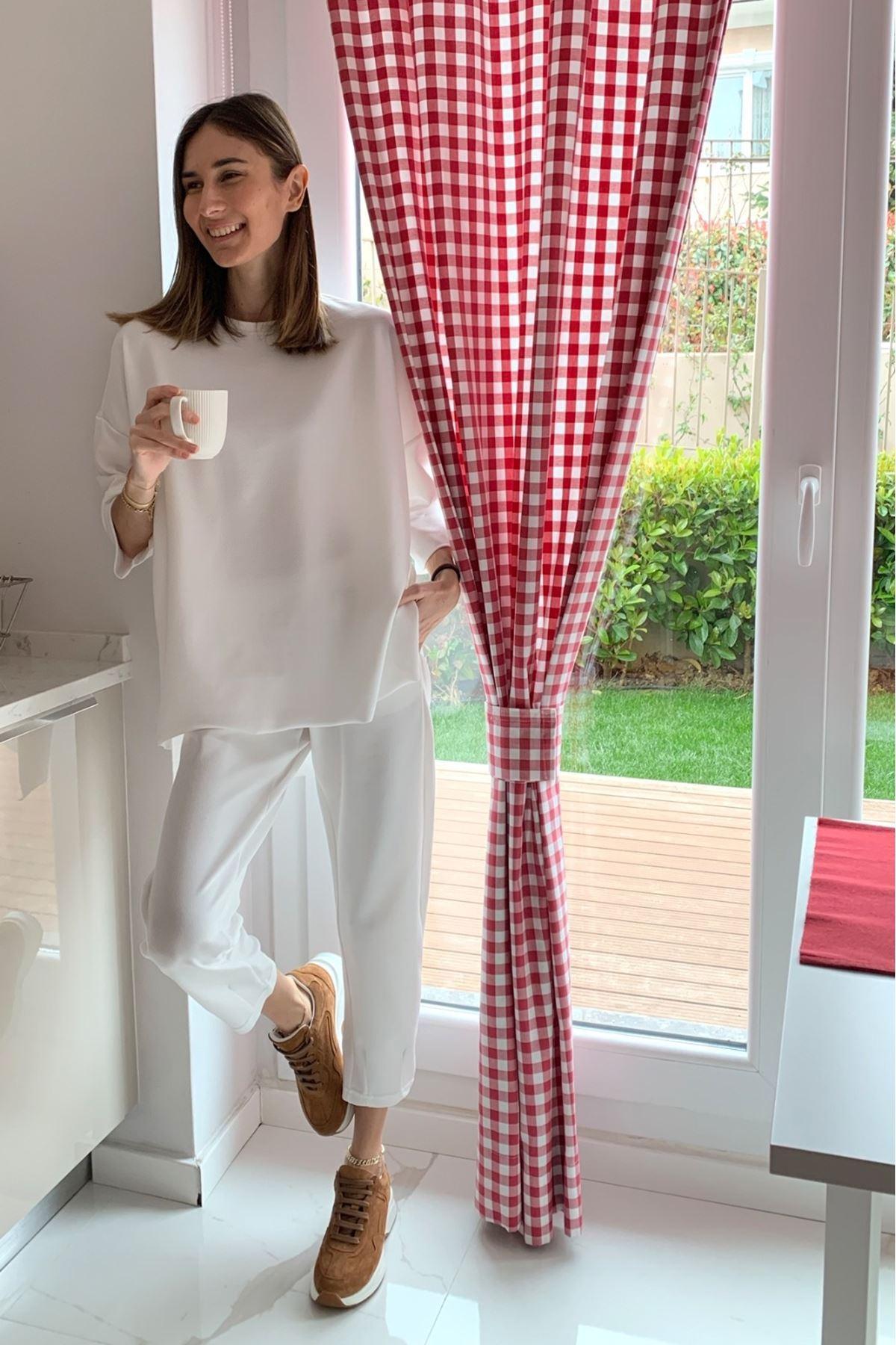 Zara Model Belmando İkili Takım - Beyaz