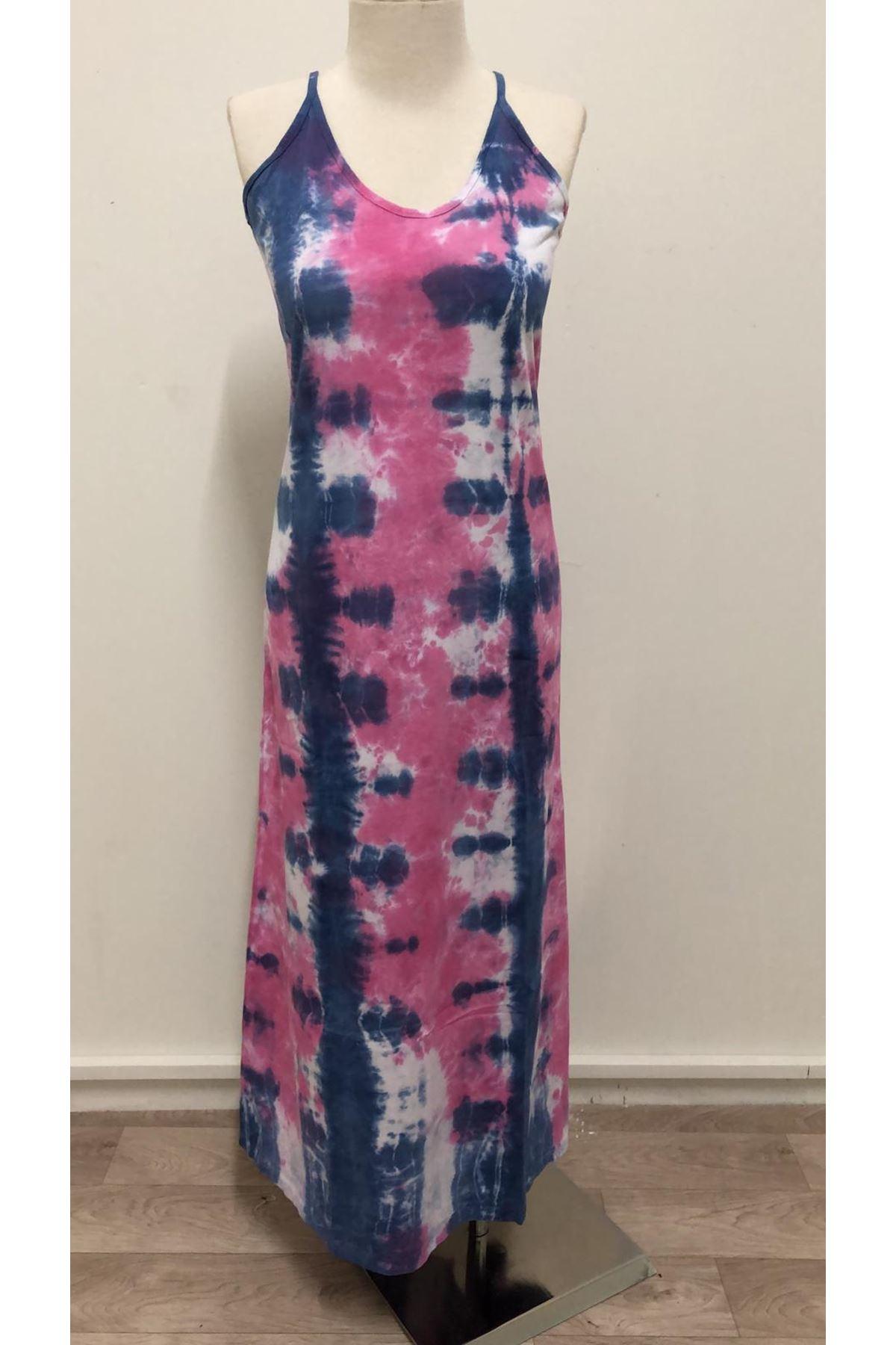 Yıkamalı Renkli Model Elbise - MULTİ