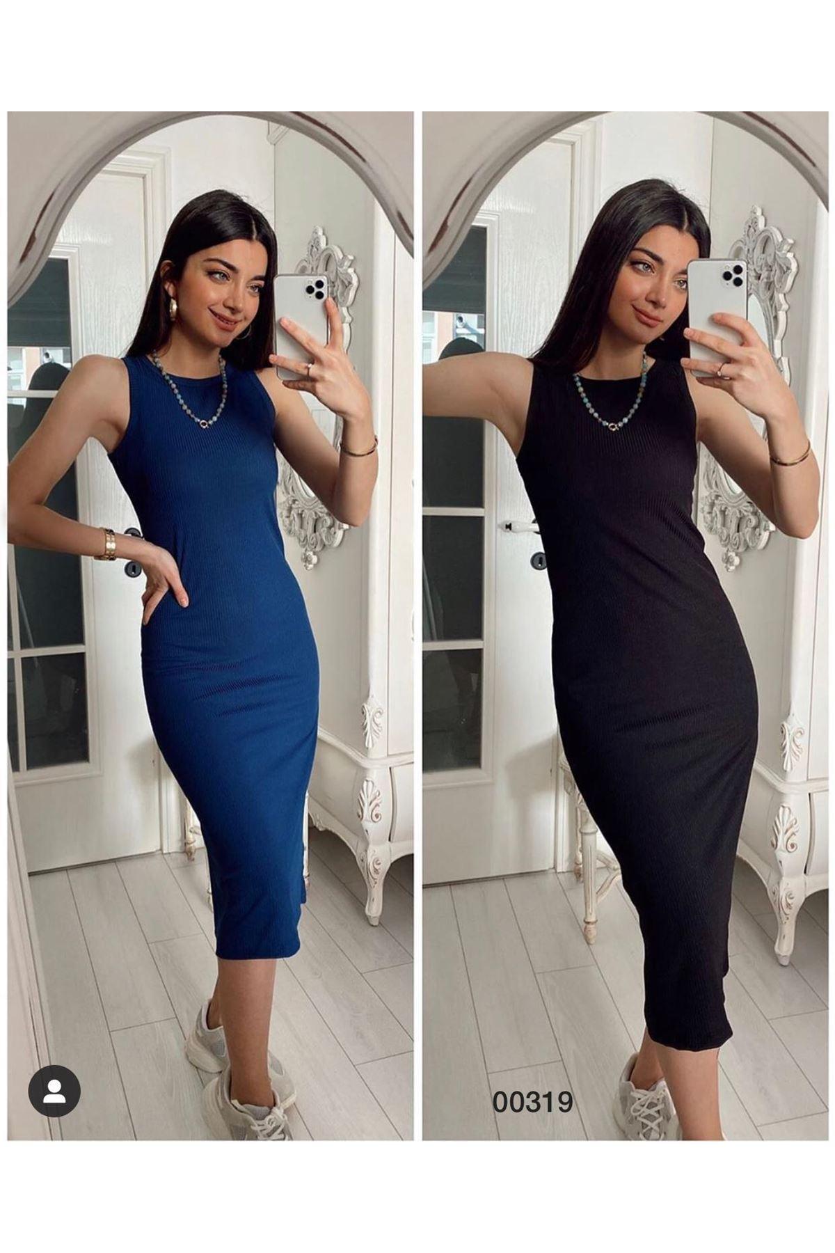 Zara Model Kalem Elbise - SİYAH