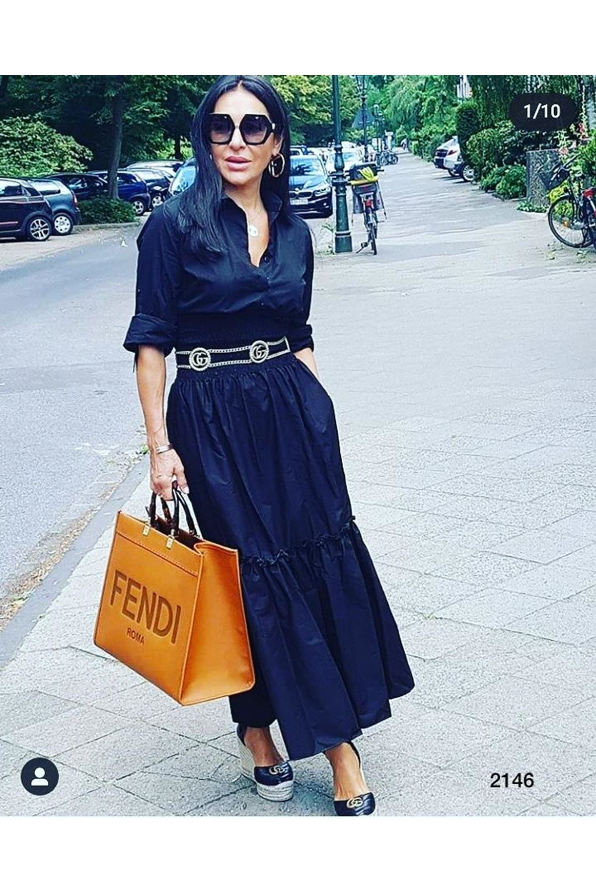 Bel Gipeli Uzun Elbise - SİYAH