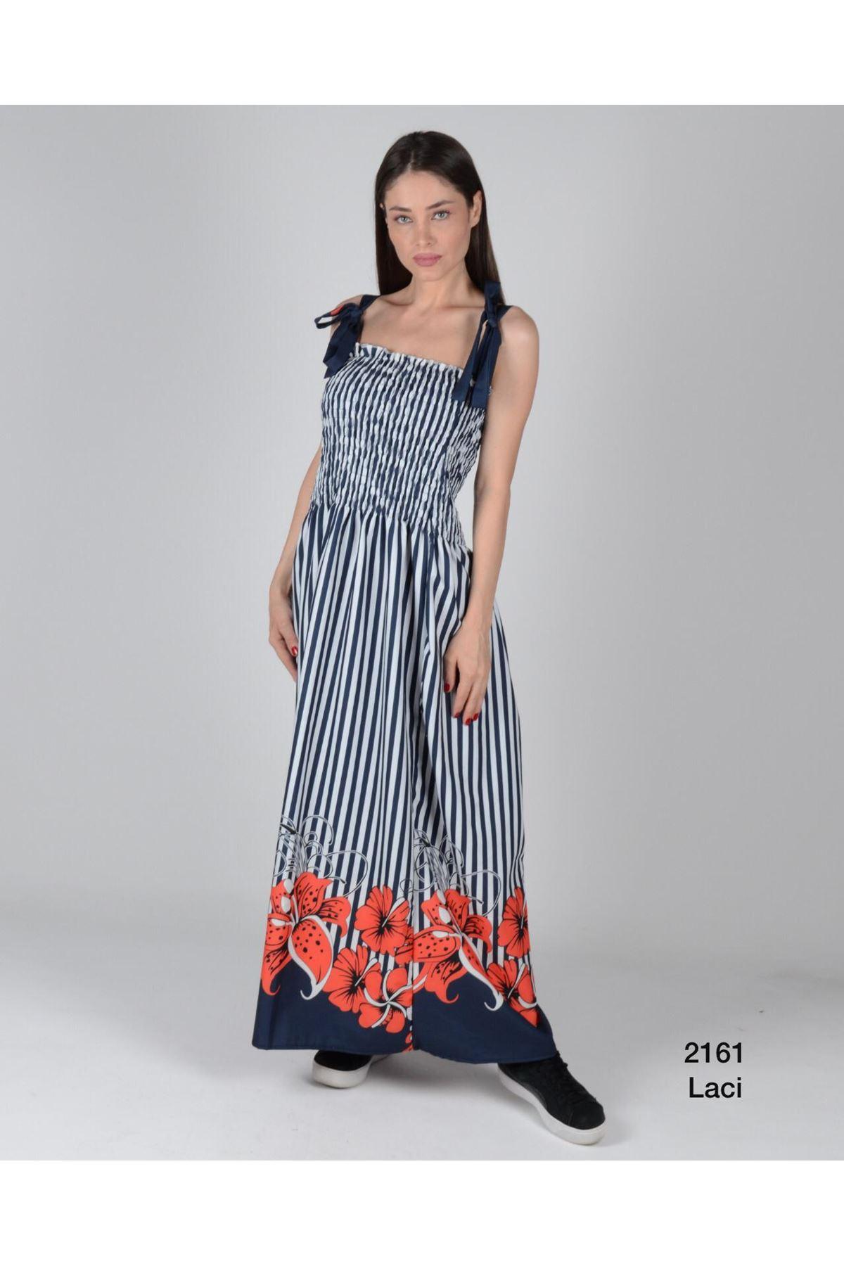 Etek Ucu Çiçekli Elbise - LACİ