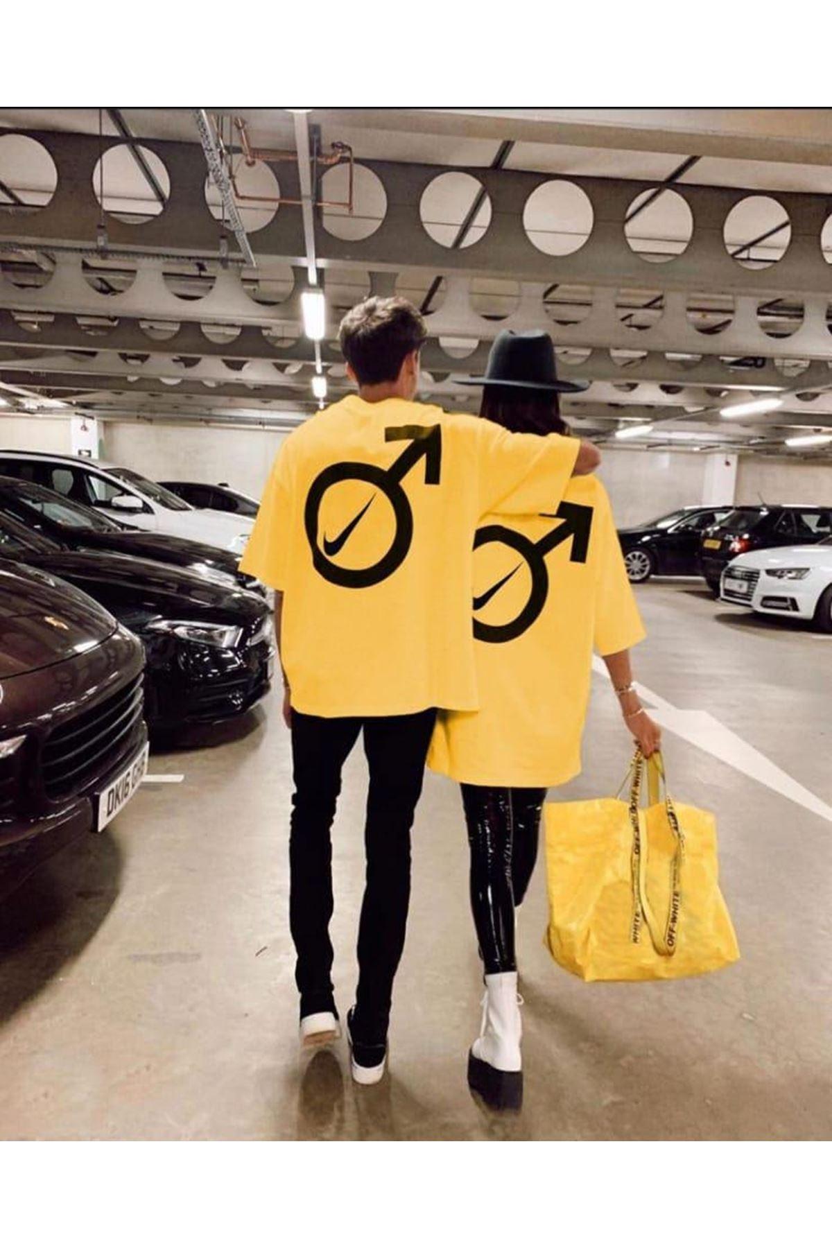 Oversize Nıke T-Shirt - Sarı
