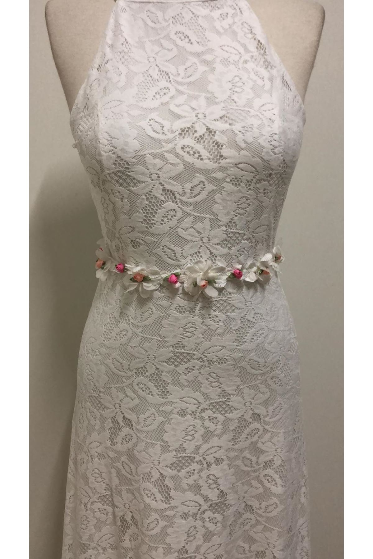 Brode Maxi Beyaz Elbise - BEYAZ