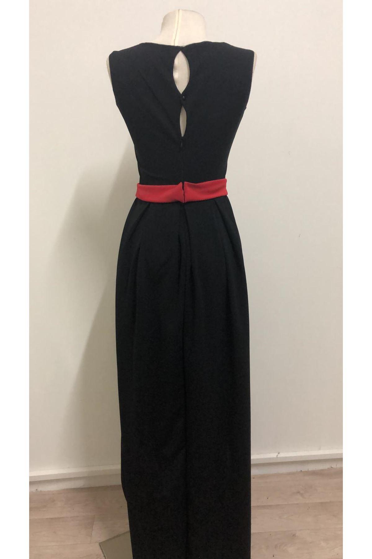 Kurdale Asimetrik Elbise- siyah