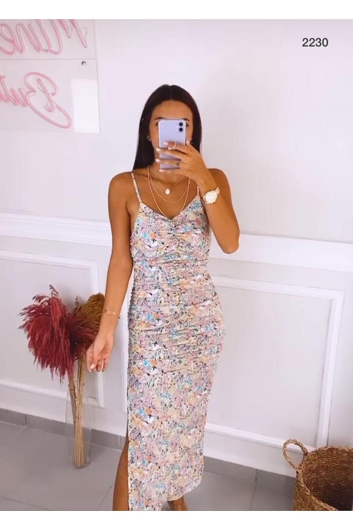 Askılı Zara Elbise -MULTİ