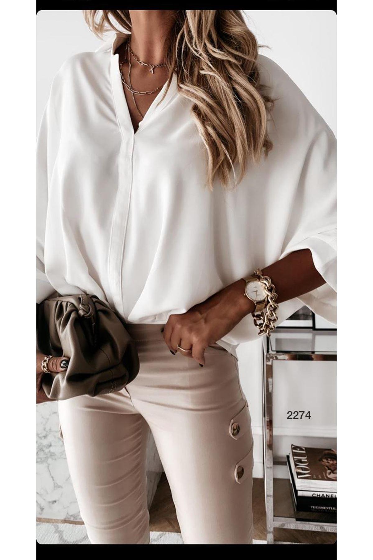 Fakir Kol Gömlek - beyaz