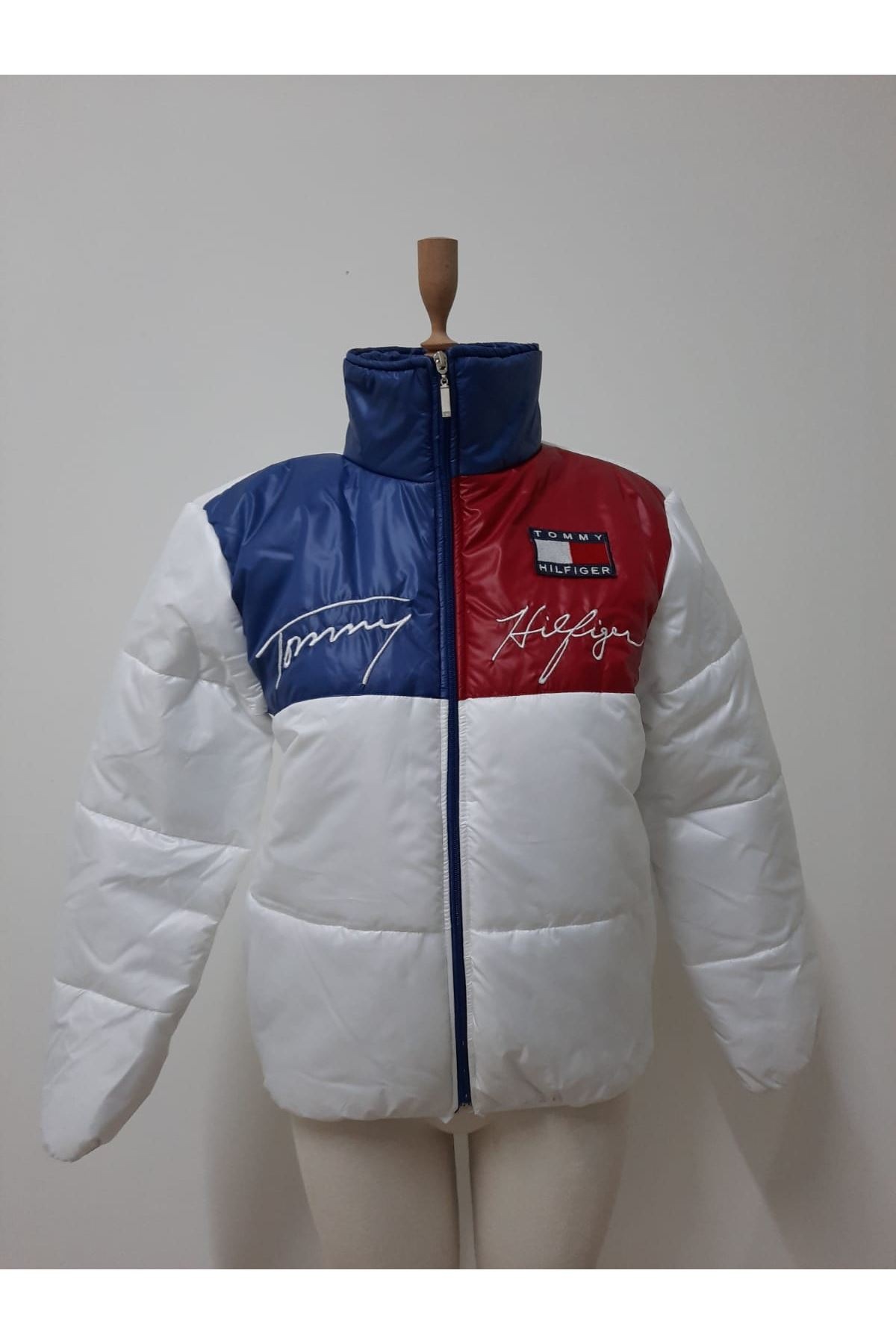 Tommy Şişme Mont - beyaz