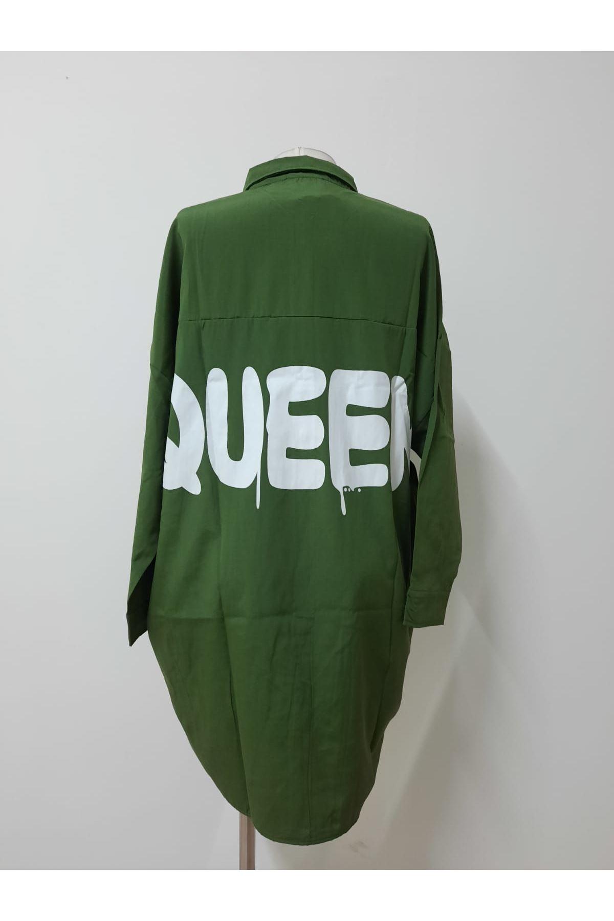 Salaş Model Queen Gömlek - yeşl
