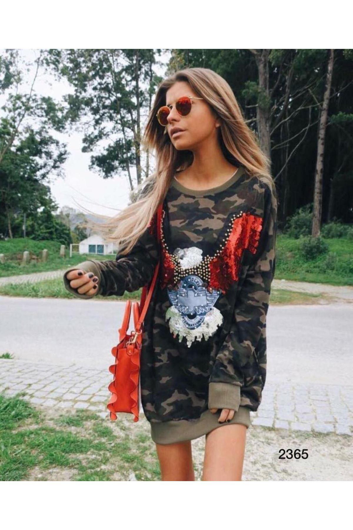 Kamuflaj Tunik Elbise - HAKİ