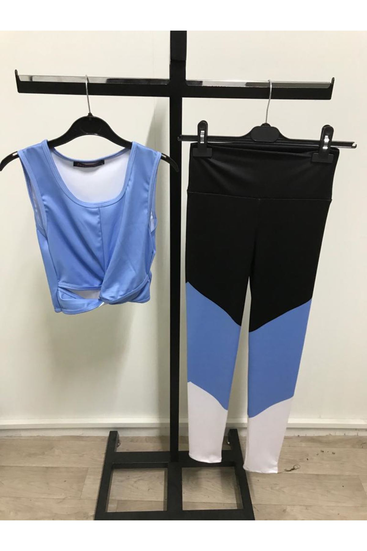 Mavili Sporcu Taytlı Takım - mavi