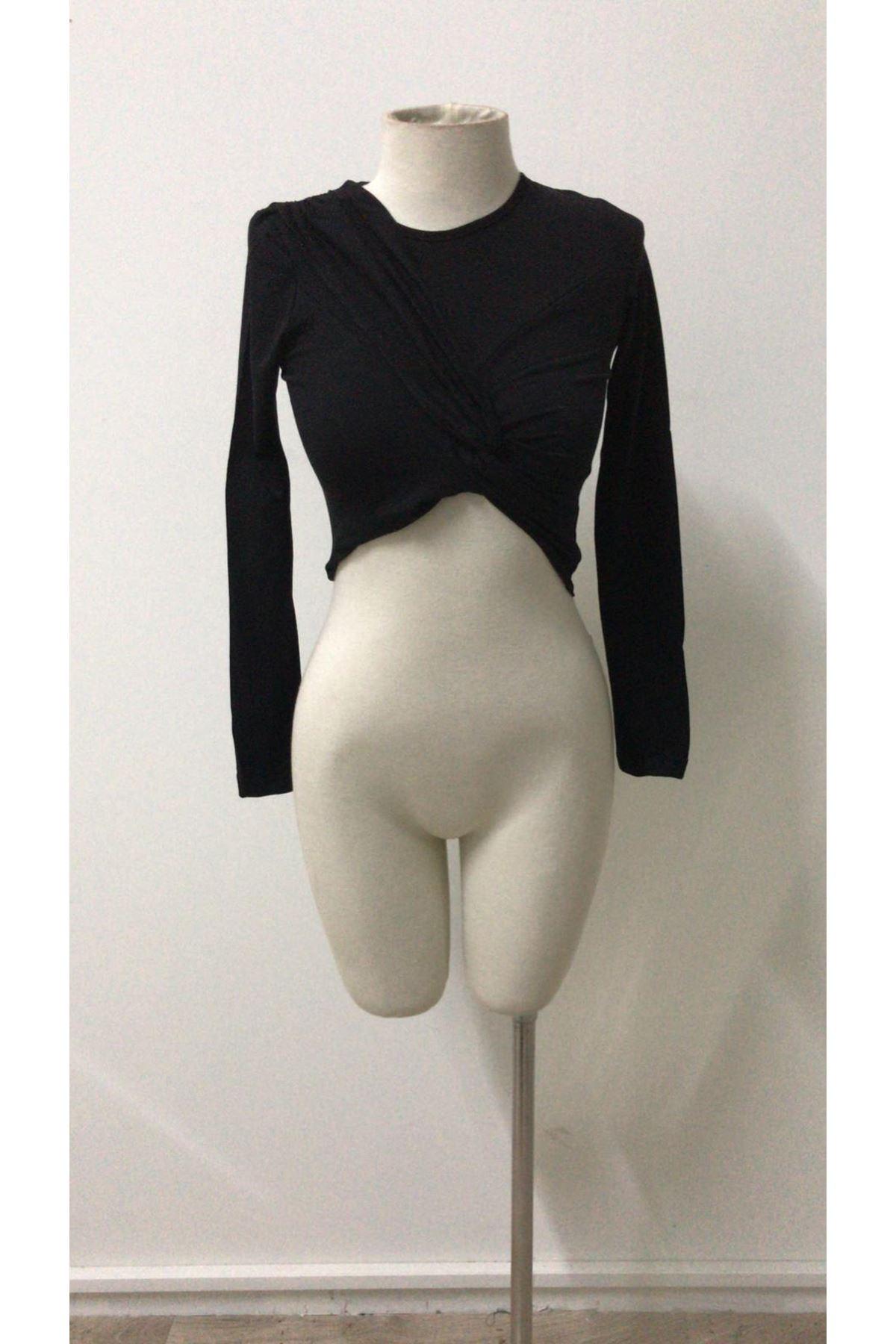 Düğüm Model Tasarım Bluz  - siyah
