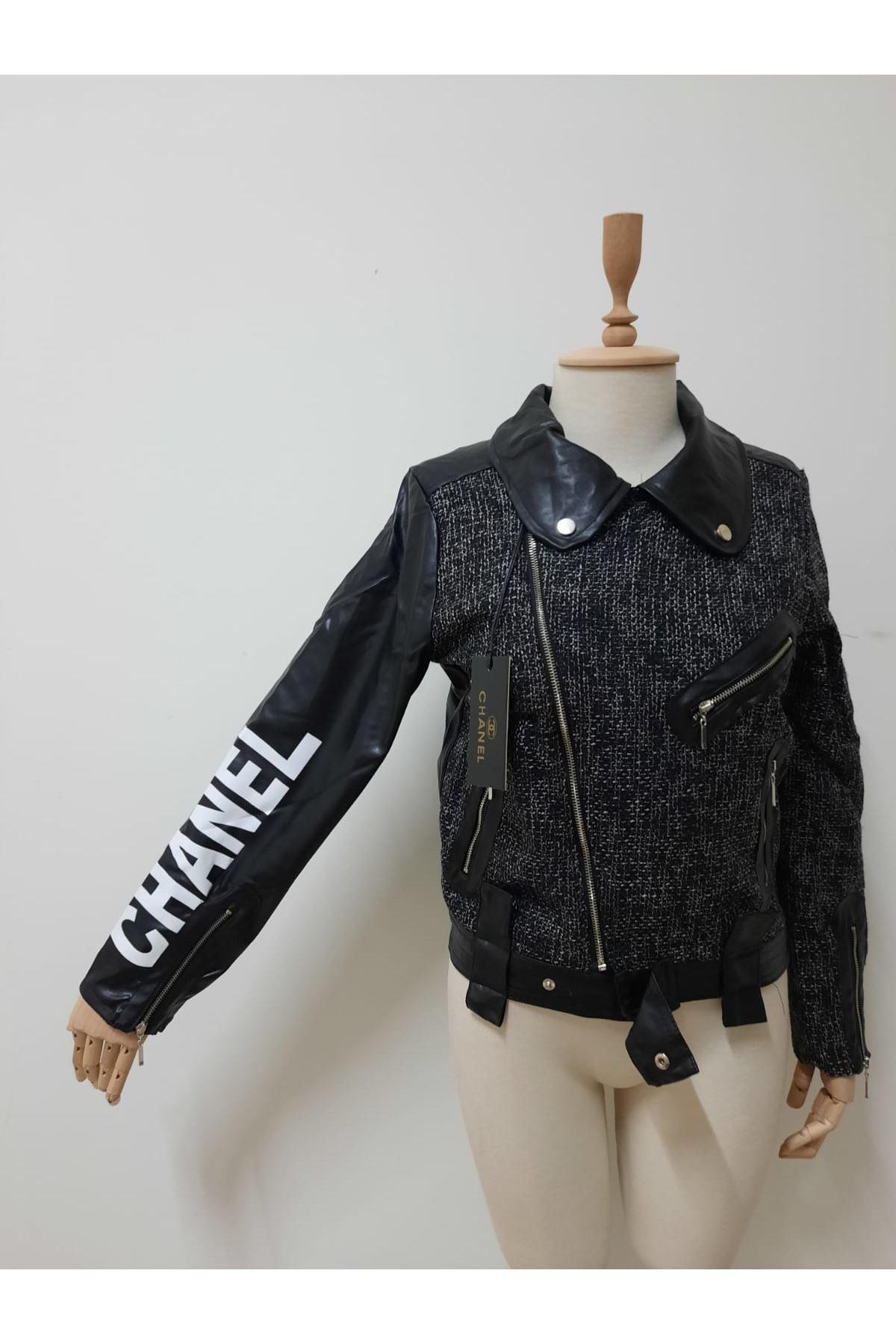 Chanel Ekose Garnili Mont - SİYAH