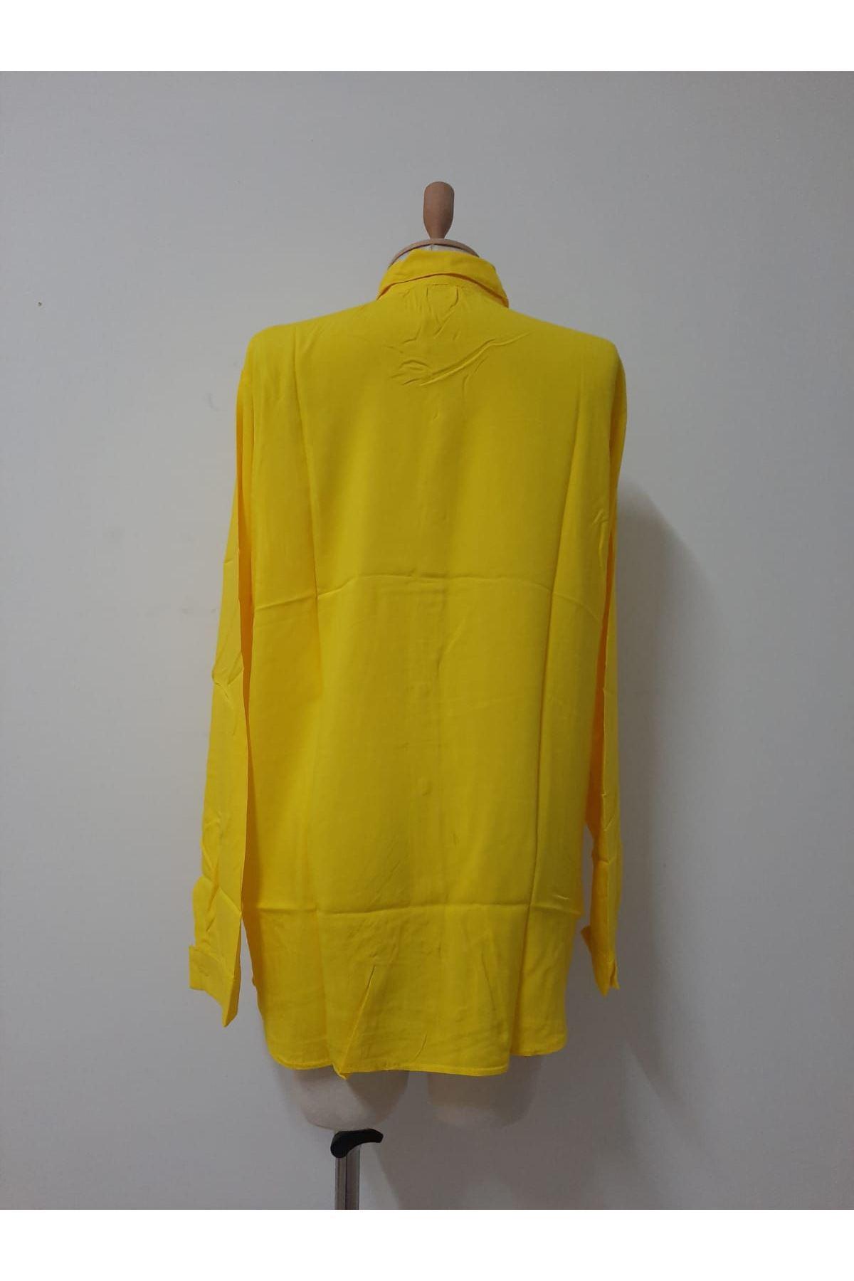 Uzun Kol Rahat Gömlek - sarı
