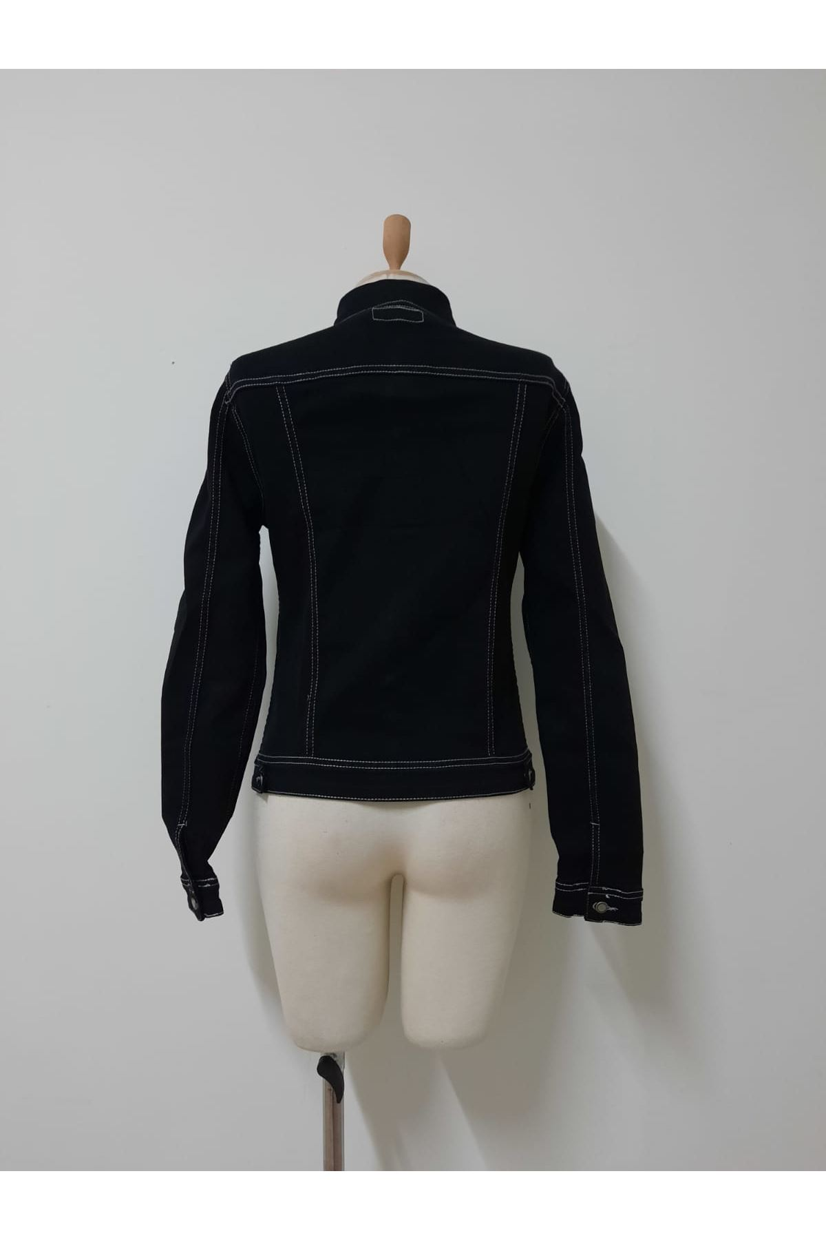 Crop Kot Ceket - siyah