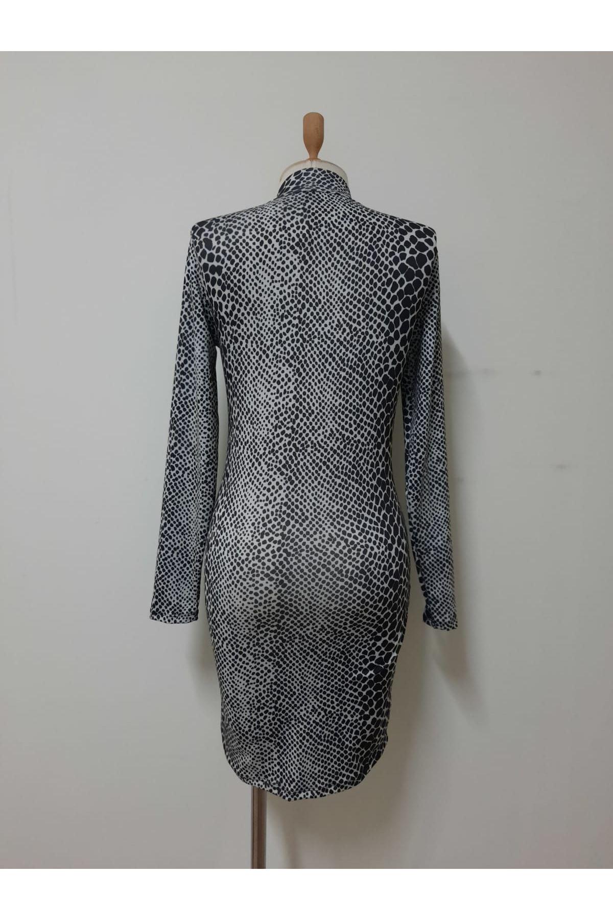 Multi Desenli Mini Elbise - MULTİ