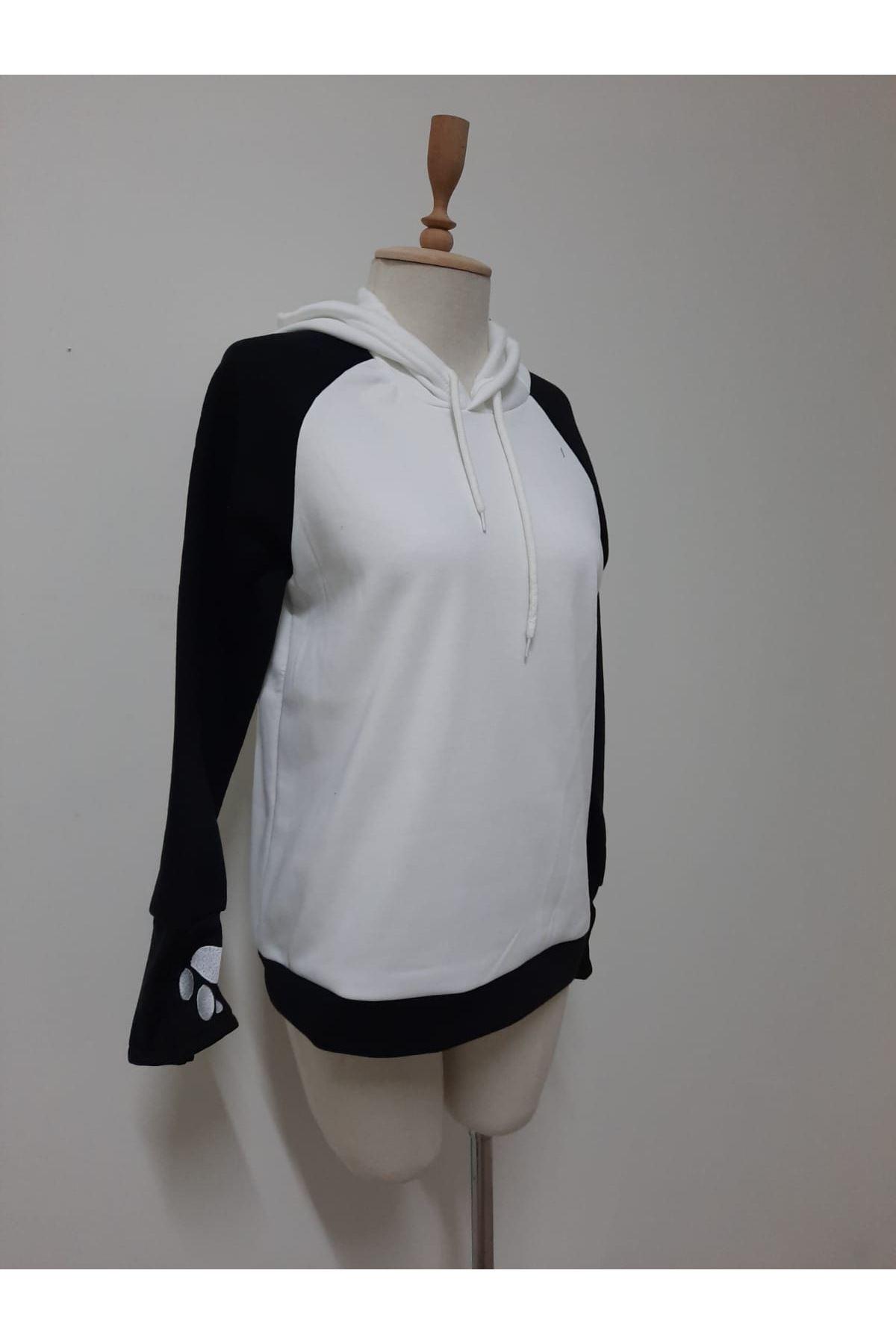 Panda Model Sweat - BEYAZ