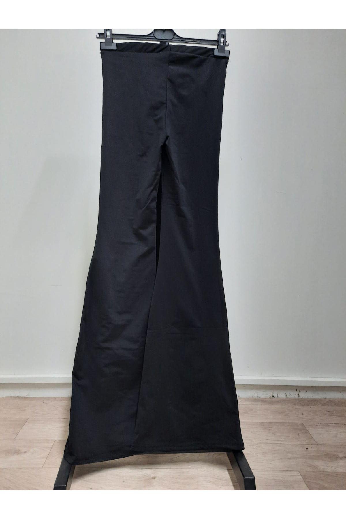 İspanyol Paça Pantolon - siyah