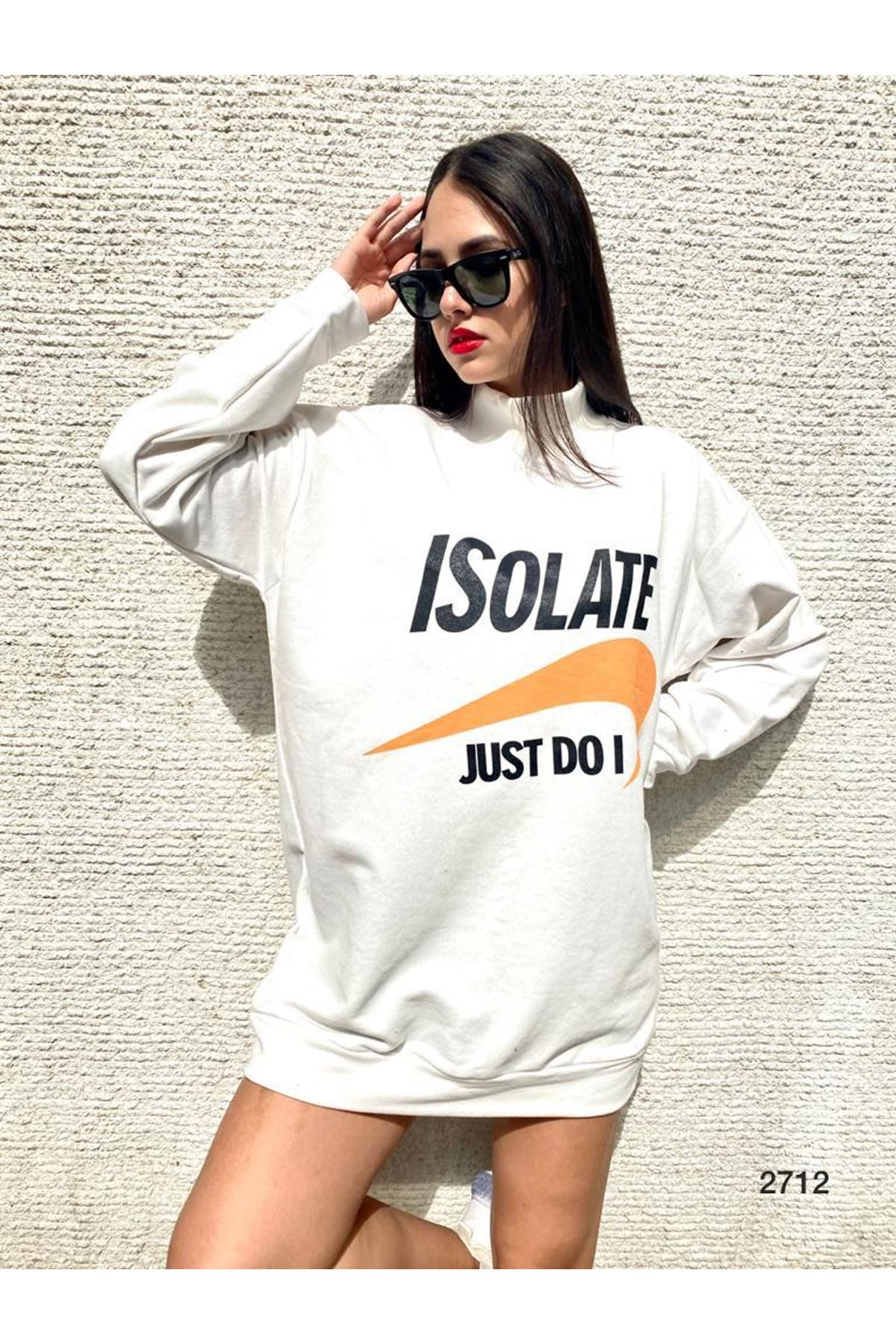 Just model Tunik Sweat - beyaz