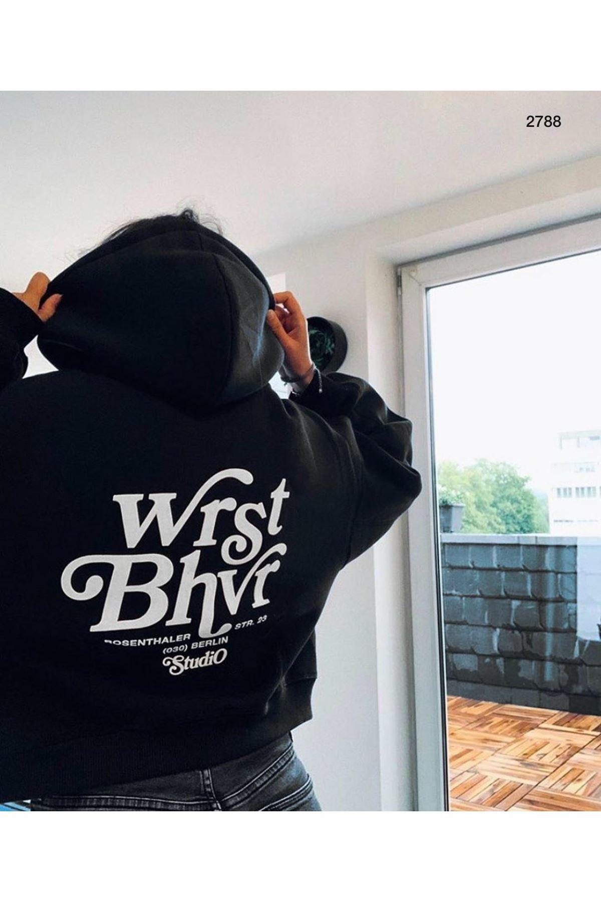 Berlin Kapşonlu Sweat - SİYAH