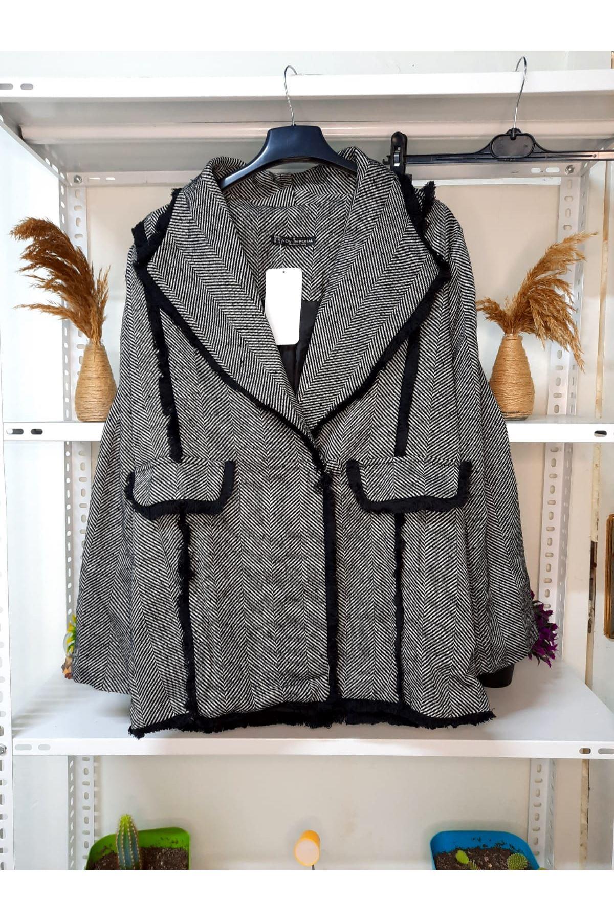 Astarlı Kaşe Ceket - gri