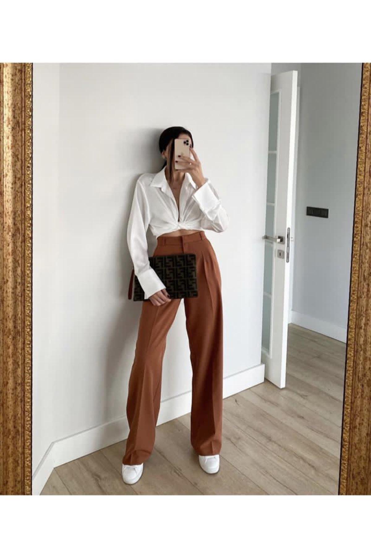 Pallazo pantolon - Kiremit