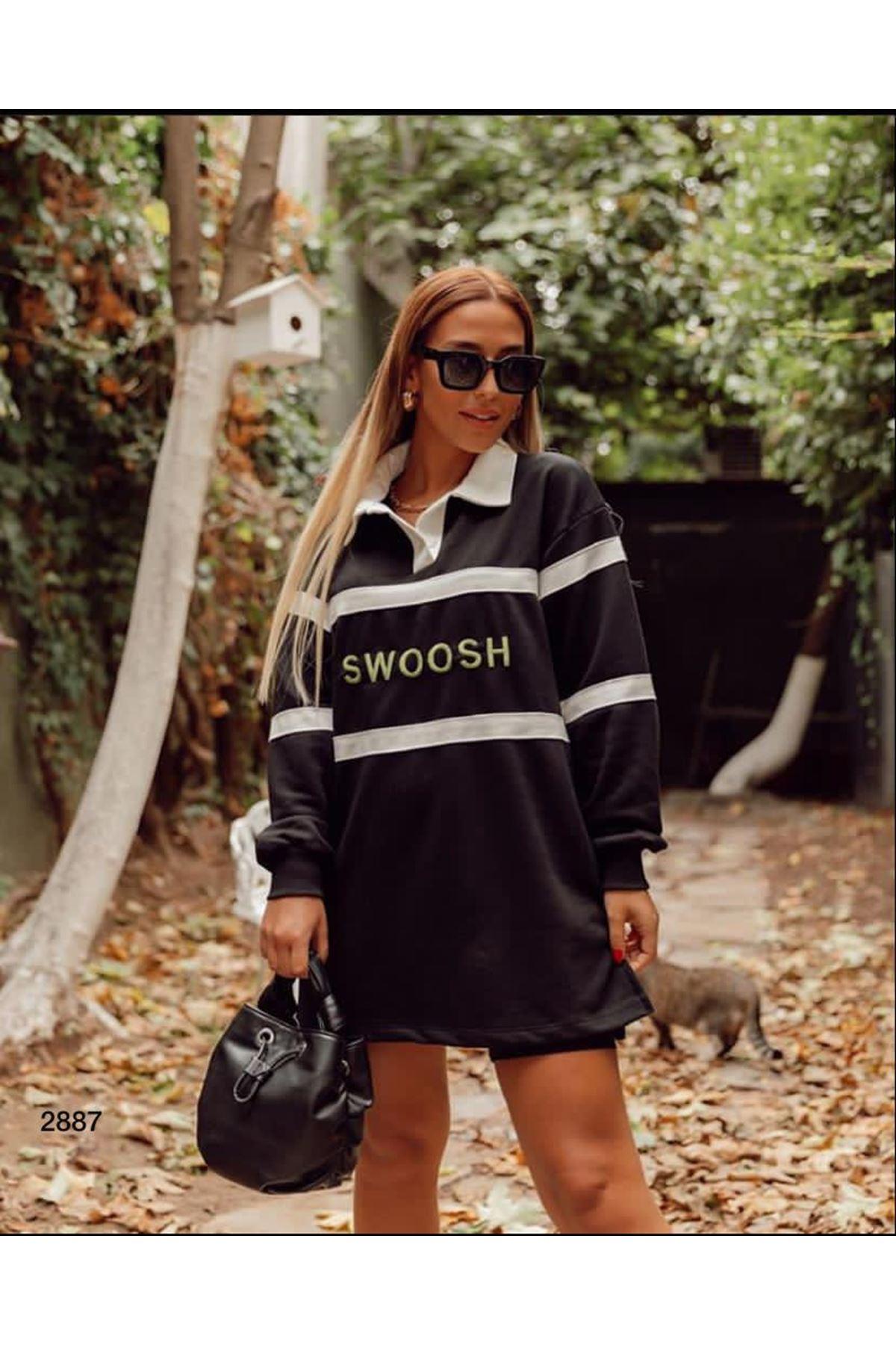 Swoosh Model Sweat Tunik - siyah