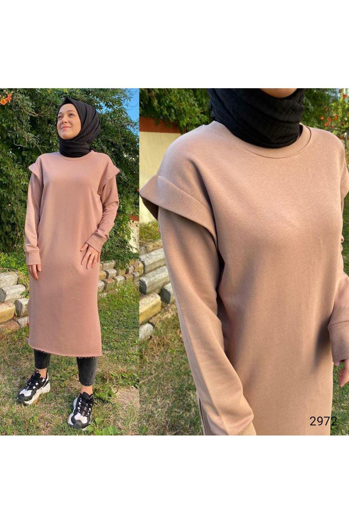 Tunik elbise - Bej