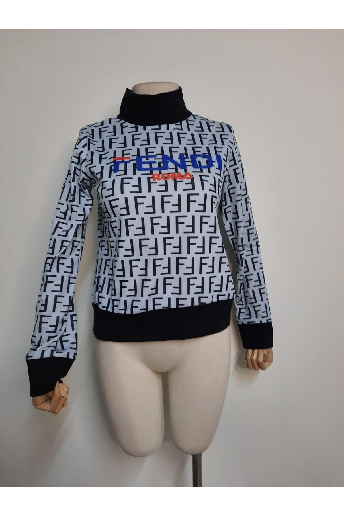 FF Desen Sweatshirt - Ekru