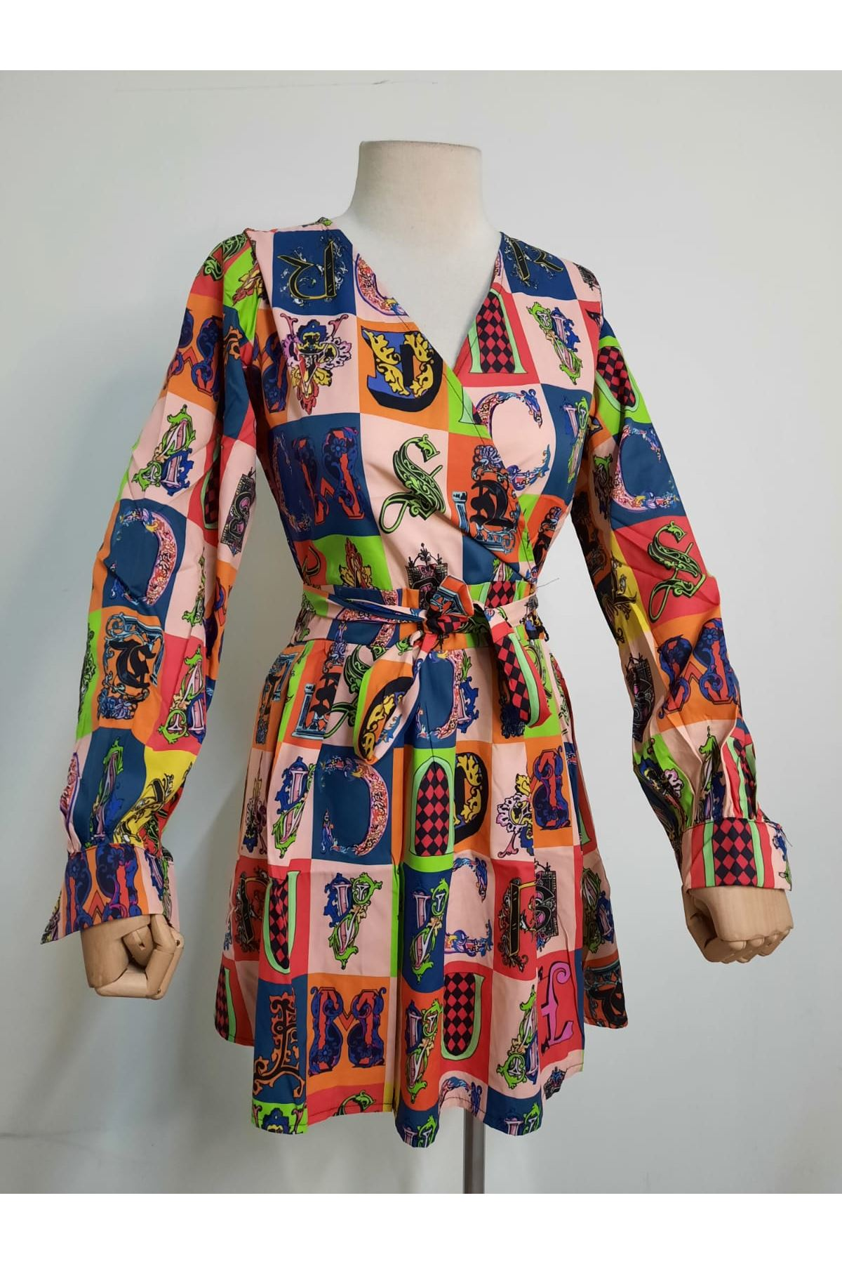 Multi Baskılı Elbise - Multi
