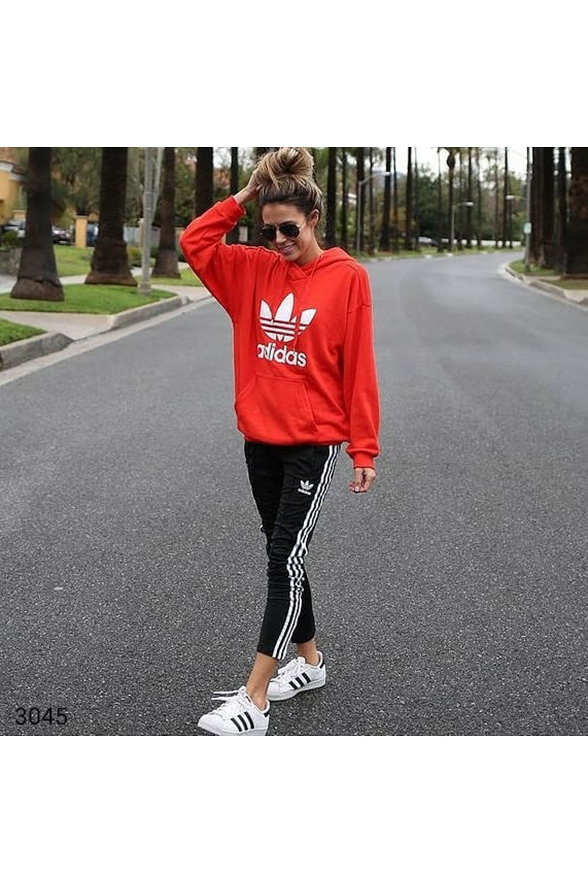 Add Sweatshirt Takım - Kırmızı