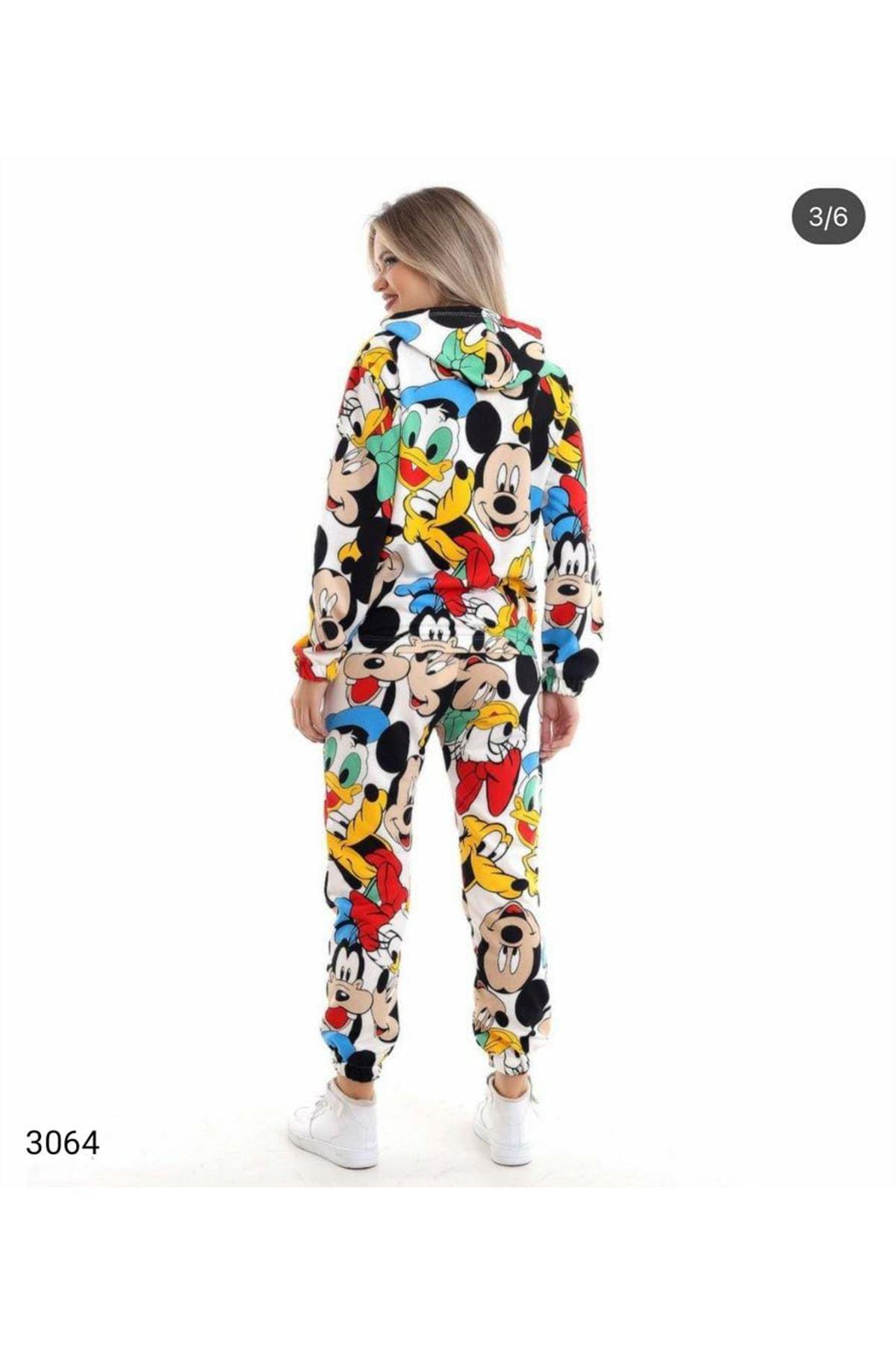 Çizgi Karakter Pijama Takımı - Multi