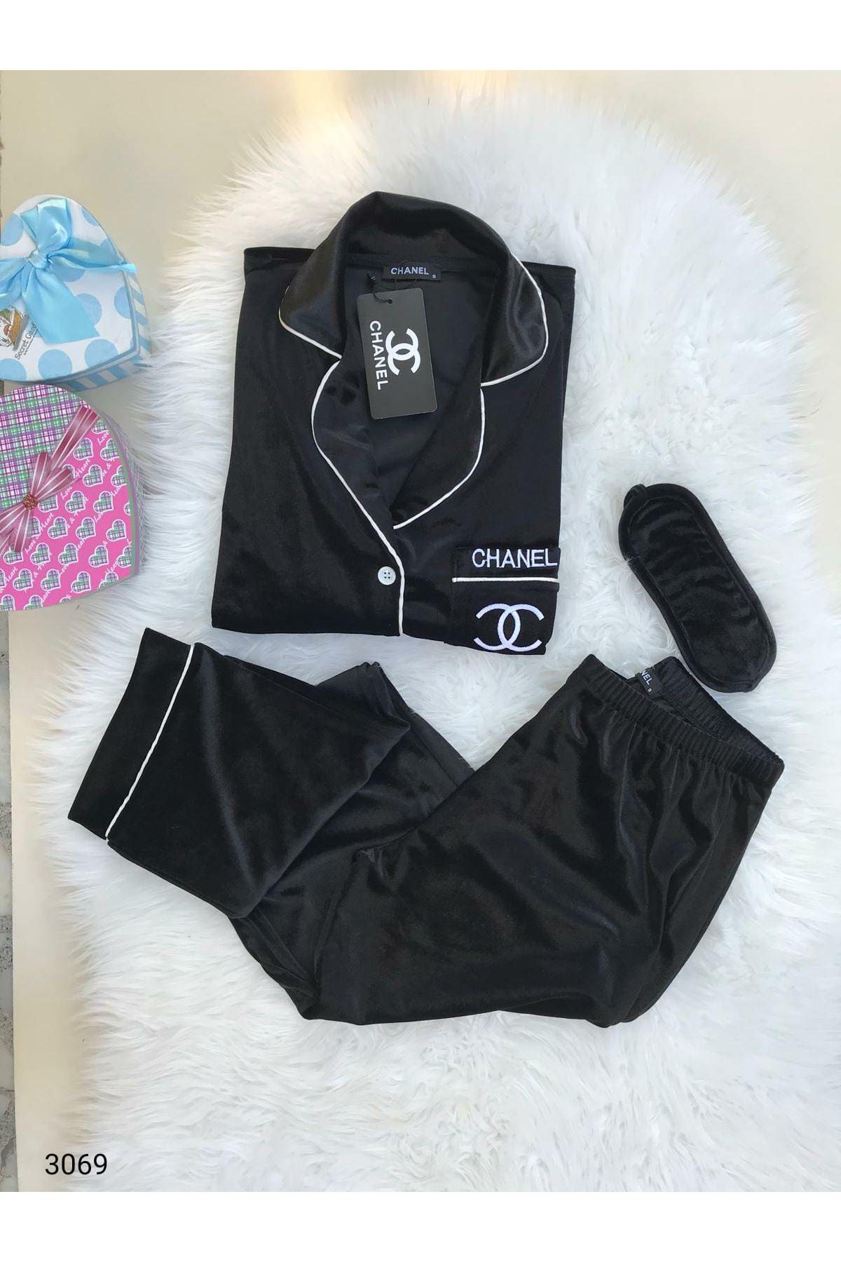 CC Kadife Pijama Takımı - Siyah