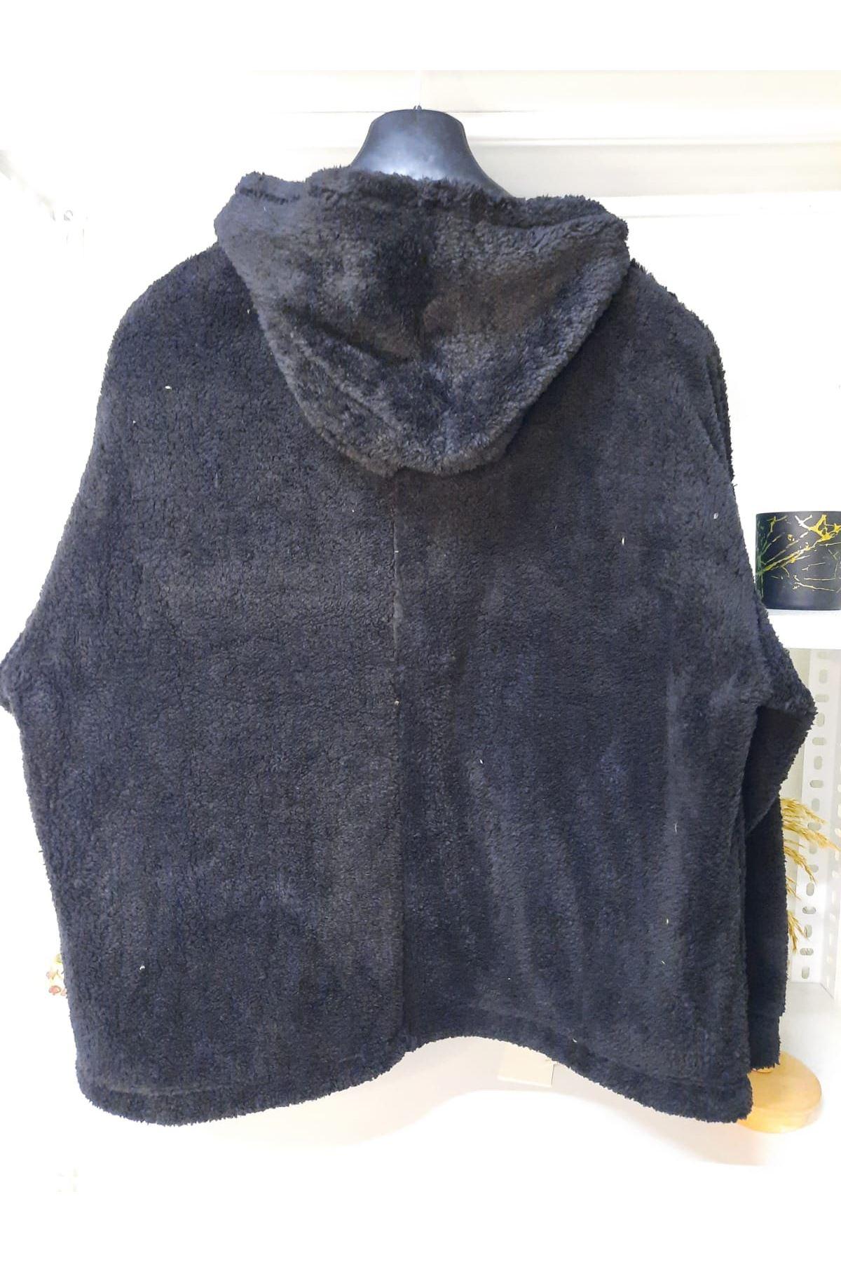 Yeni Sezon Peluş Ceket - SİYAH