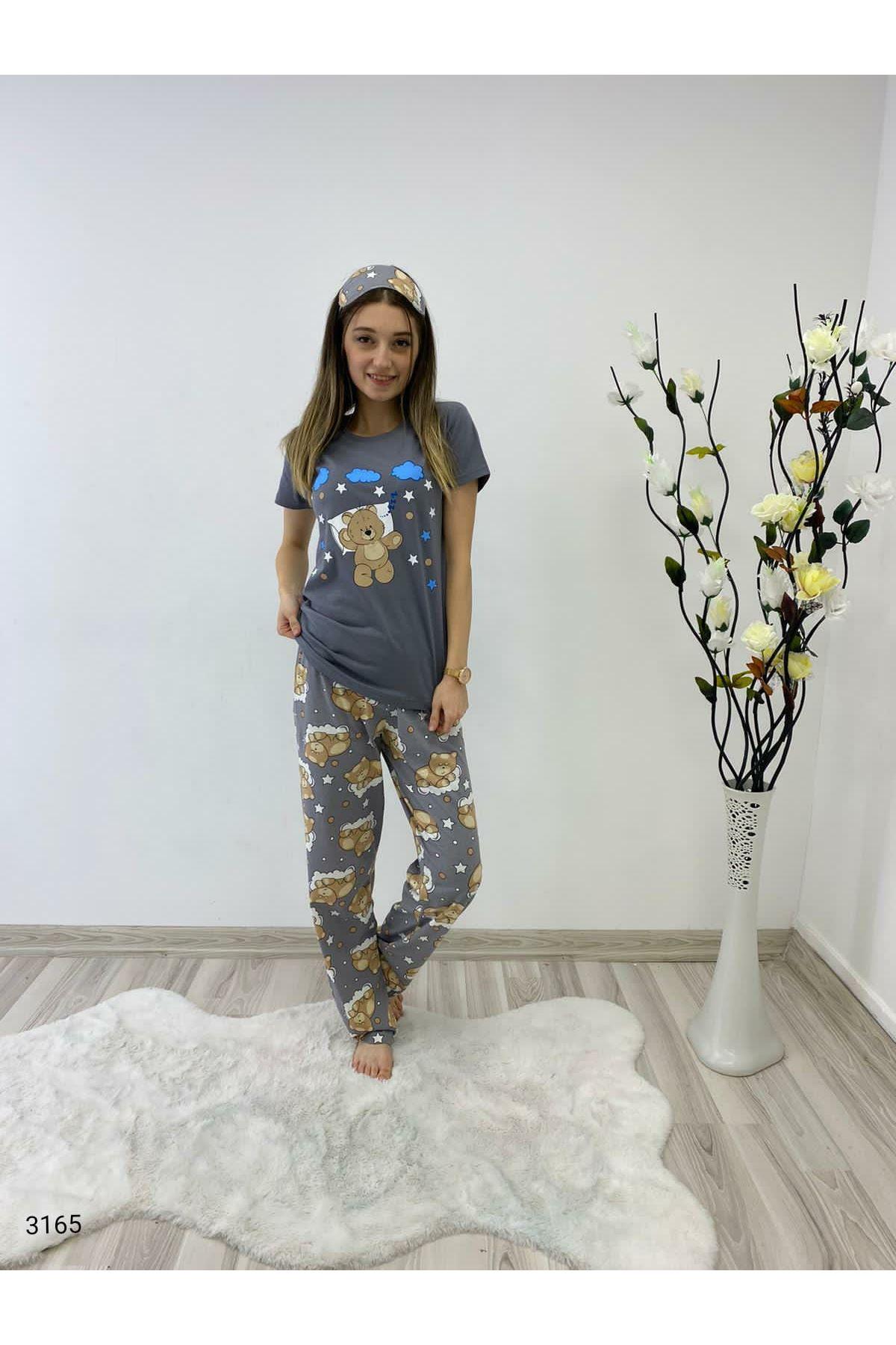 3'lü Pijama Takımı - GRİ