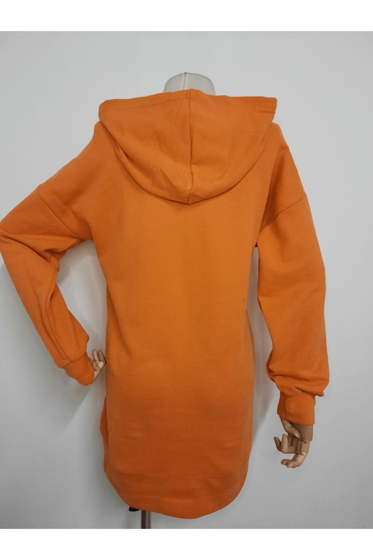 BB Uzun Sweatshirt  - TURUNCU