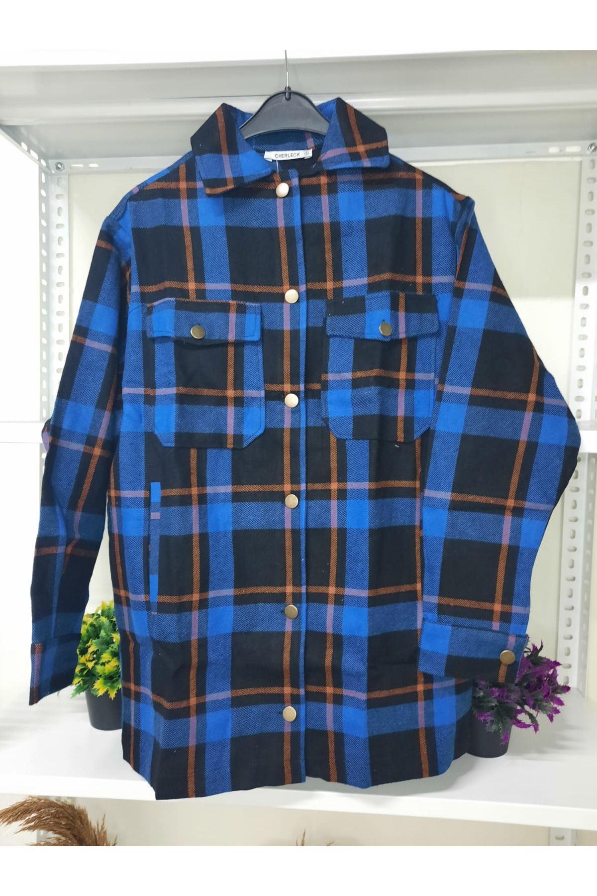 Ekose Desen Gömlek Ceket - LACİ