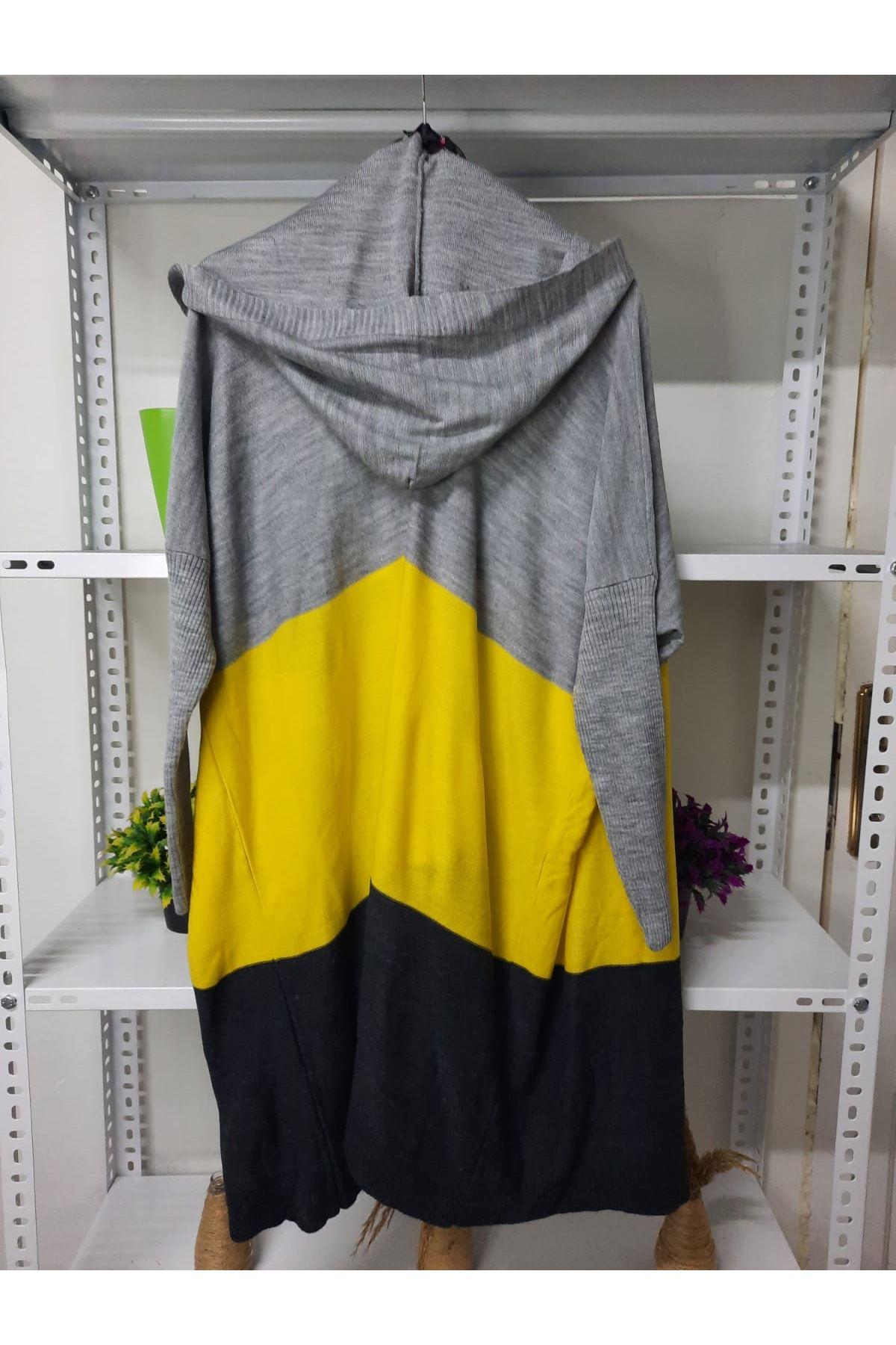 Neon Renk Hırka - sarı