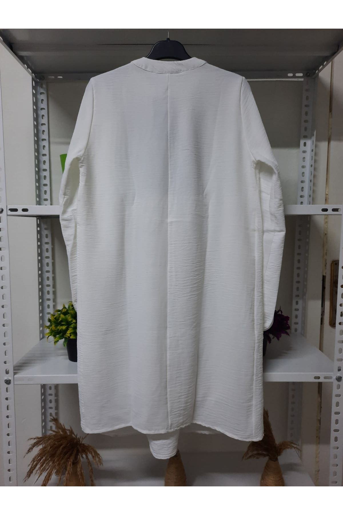 Omuz Fırfır Elbise - EKRU